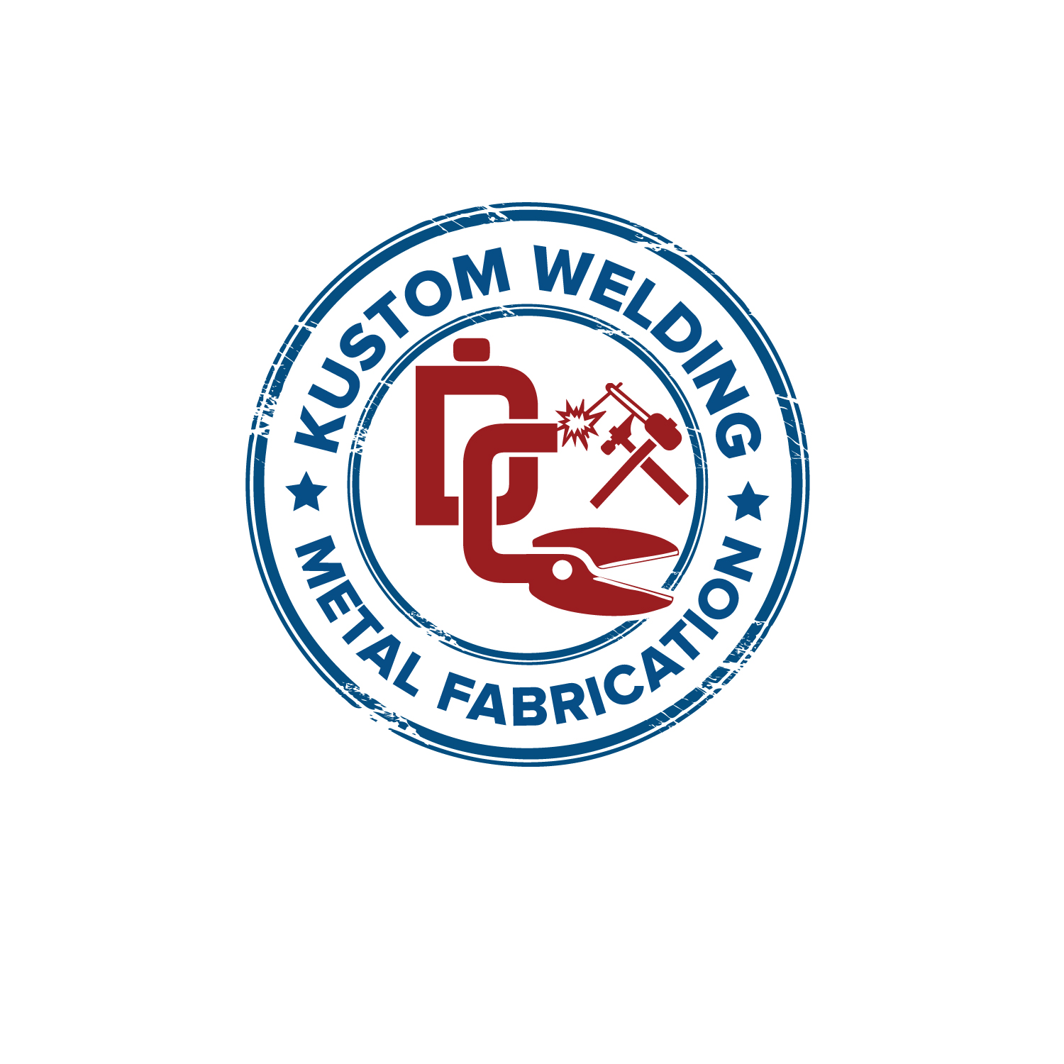 Logo Design by Bac Huu - Entry No. 118 in the Logo Design Contest Imaginative Logo Design for DC KUSTOM WELDING & METAL FABRICATION.