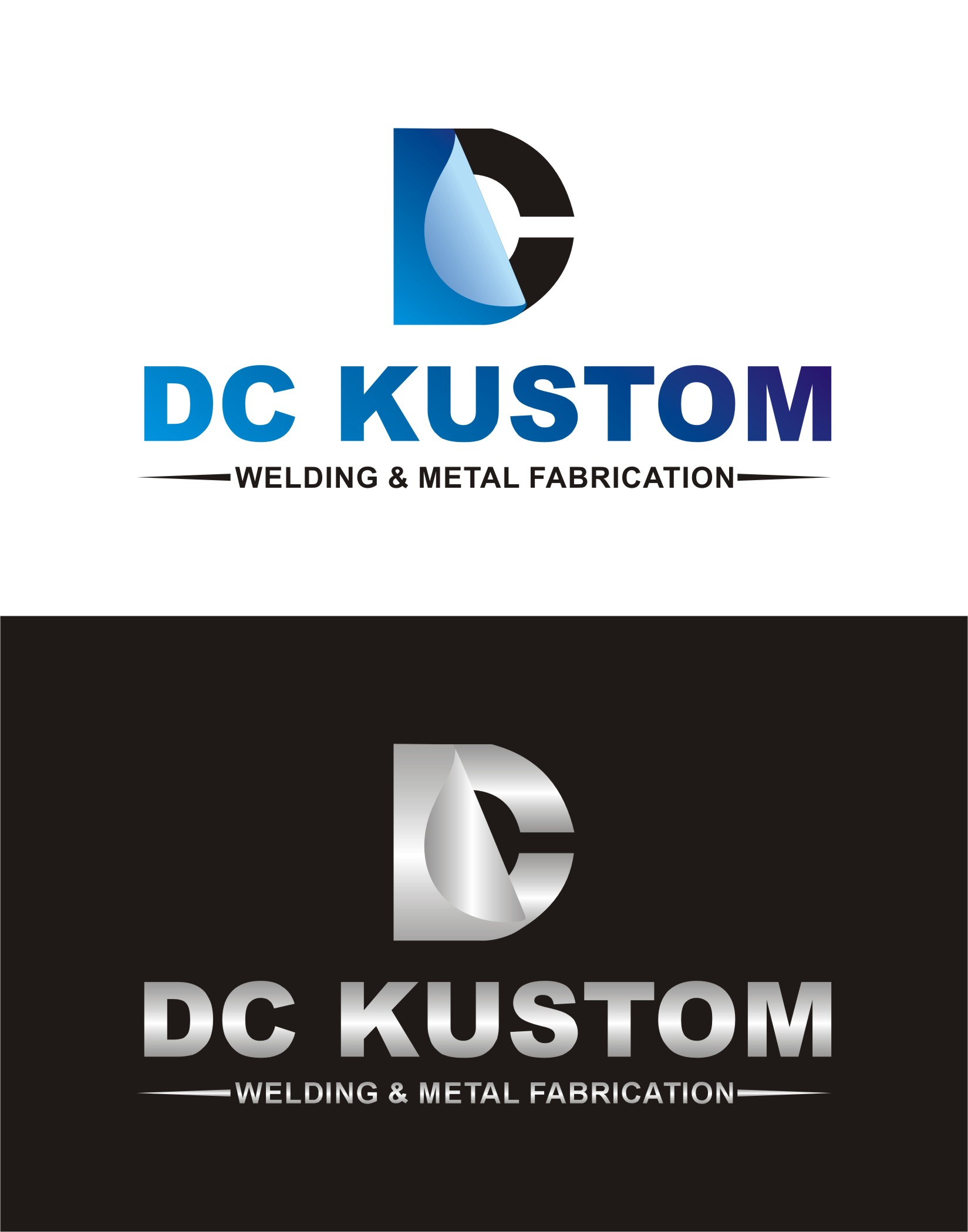 Logo Design by Spider Graphics - Entry No. 122 in the Logo Design Contest Imaginative Logo Design for DC KUSTOM WELDING & METAL FABRICATION.
