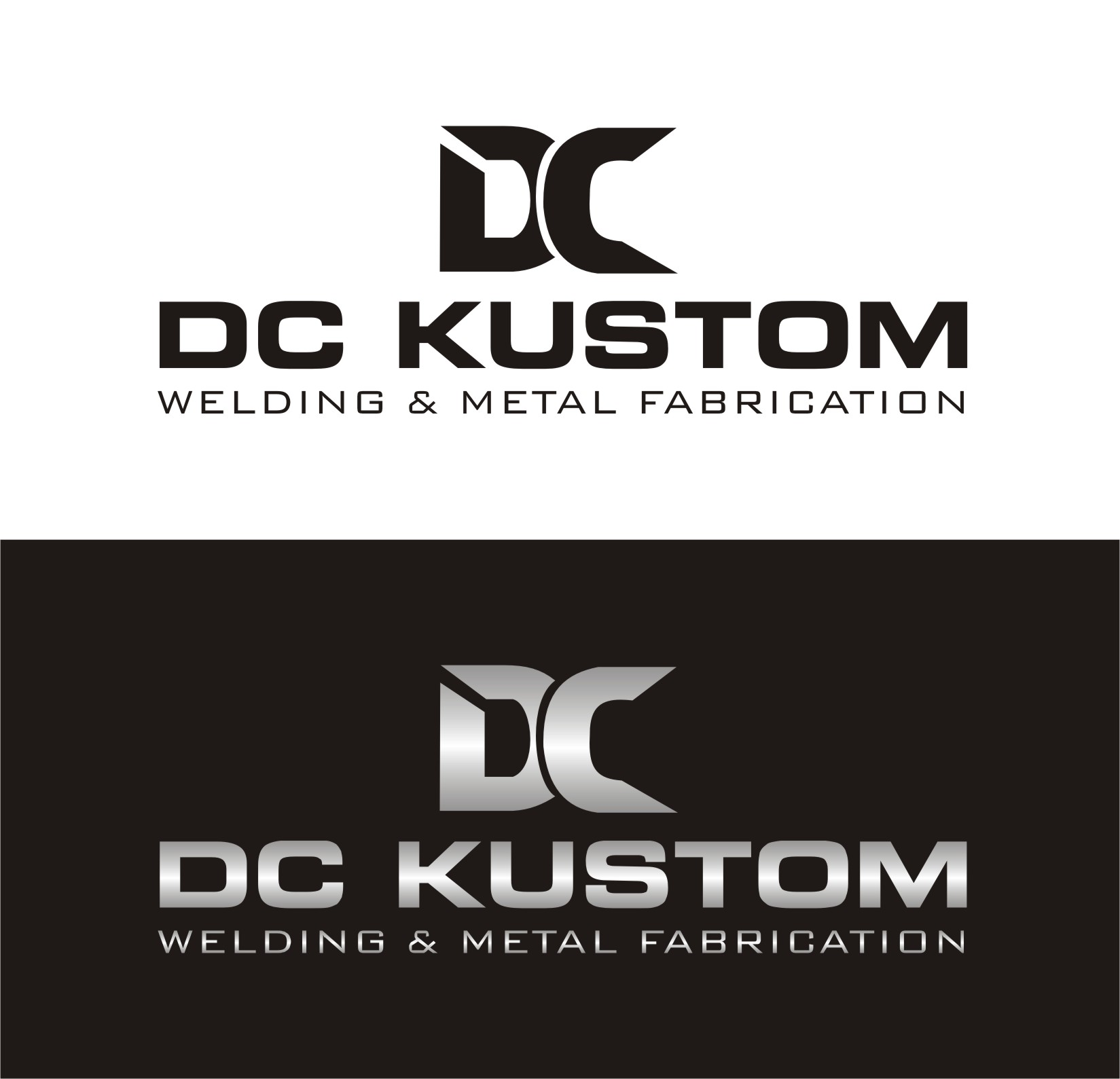 Logo Design by I graphics GRAPHICS - Entry No. 135 in the Logo Design Contest Imaginative Logo Design for DC KUSTOM WELDING & METAL FABRICATION.