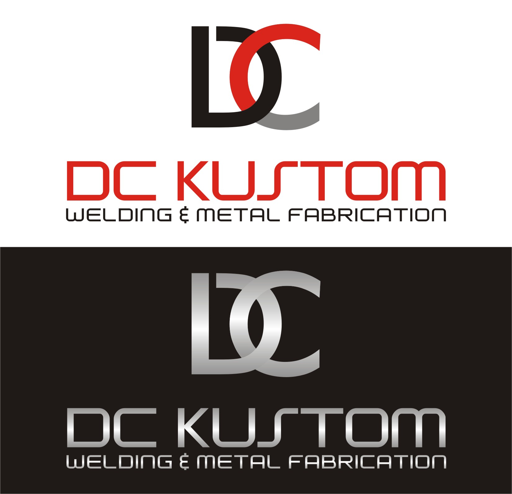Logo Design by I graphics GRAPHICS - Entry No. 136 in the Logo Design Contest Imaginative Logo Design for DC KUSTOM WELDING & METAL FABRICATION.
