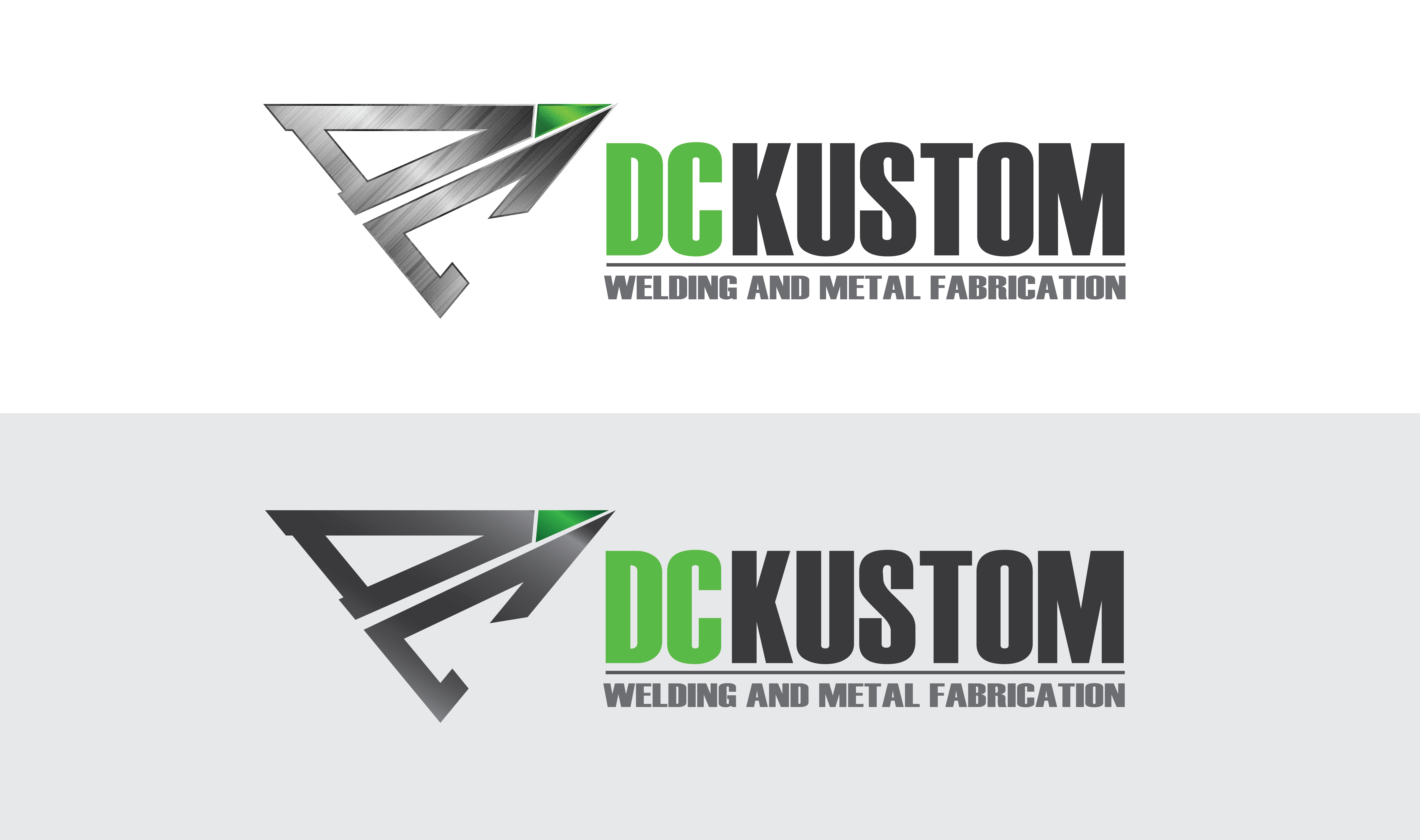 Logo Design by Ivan Aguilon - Entry No. 139 in the Logo Design Contest Imaginative Logo Design for DC KUSTOM WELDING & METAL FABRICATION.