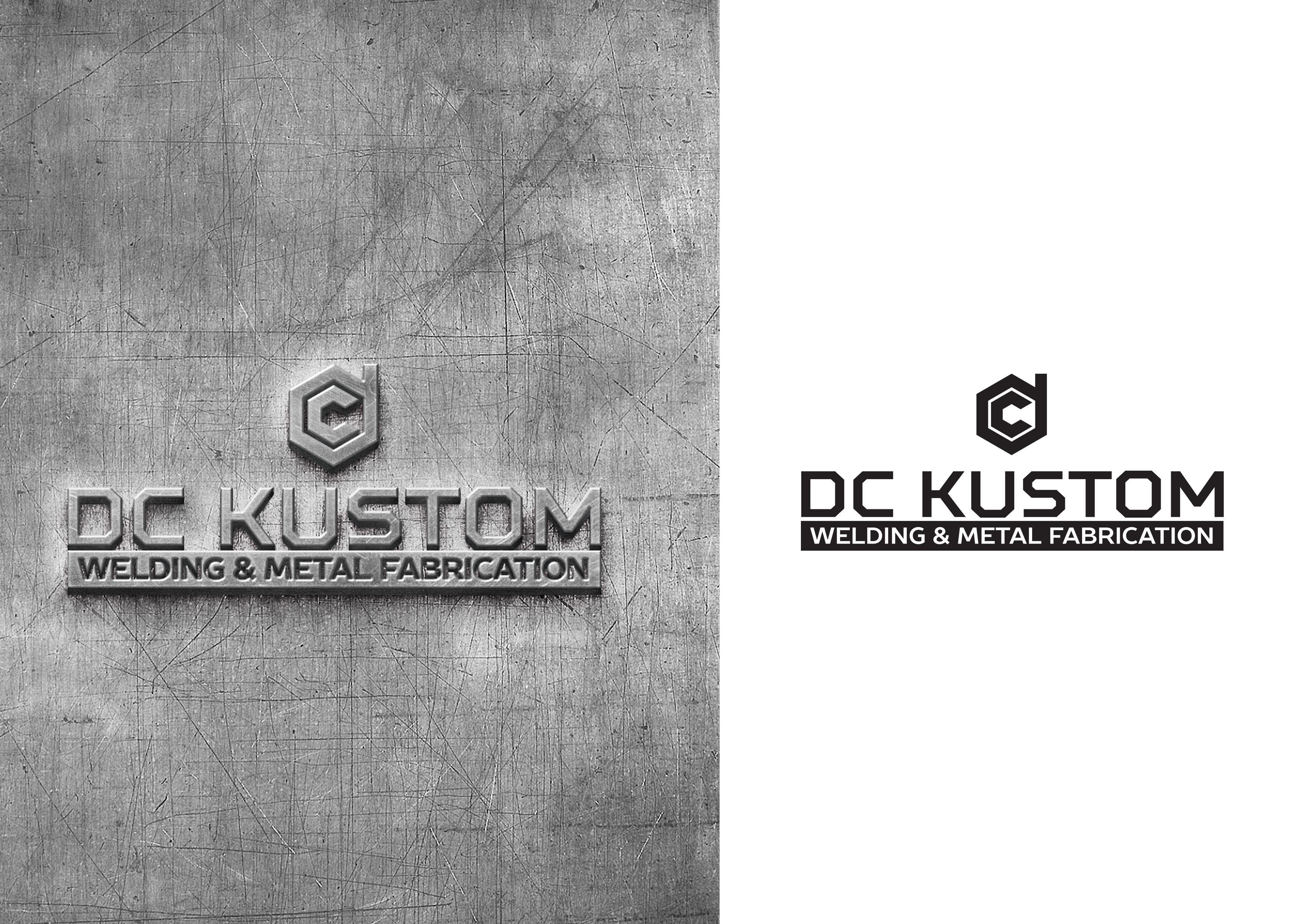 Logo Design by demang - Entry No. 141 in the Logo Design Contest Imaginative Logo Design for DC KUSTOM WELDING & METAL FABRICATION.