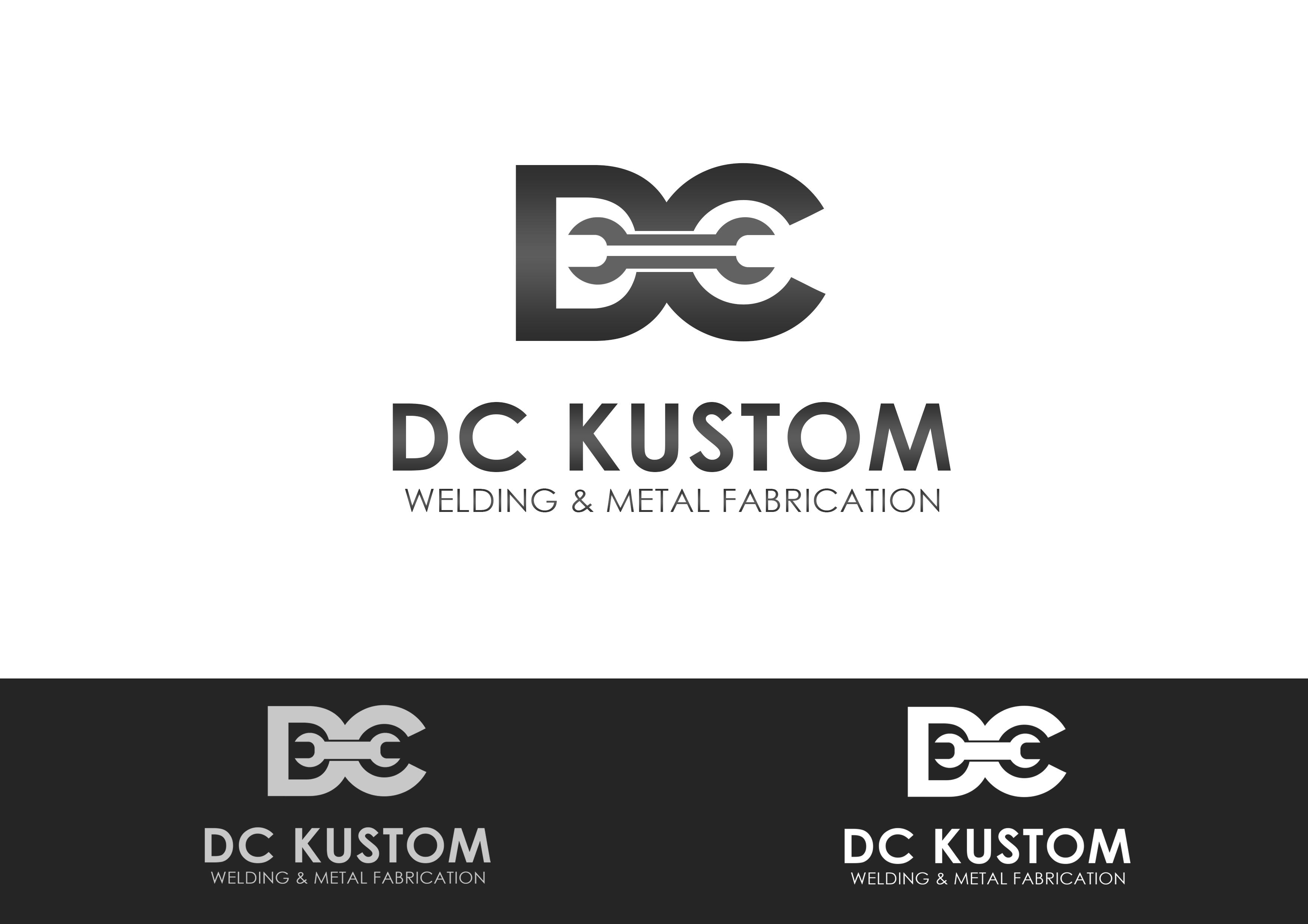 Logo Design by Jesther Jordan Minor - Entry No. 145 in the Logo Design Contest Imaginative Logo Design for DC KUSTOM WELDING & METAL FABRICATION.