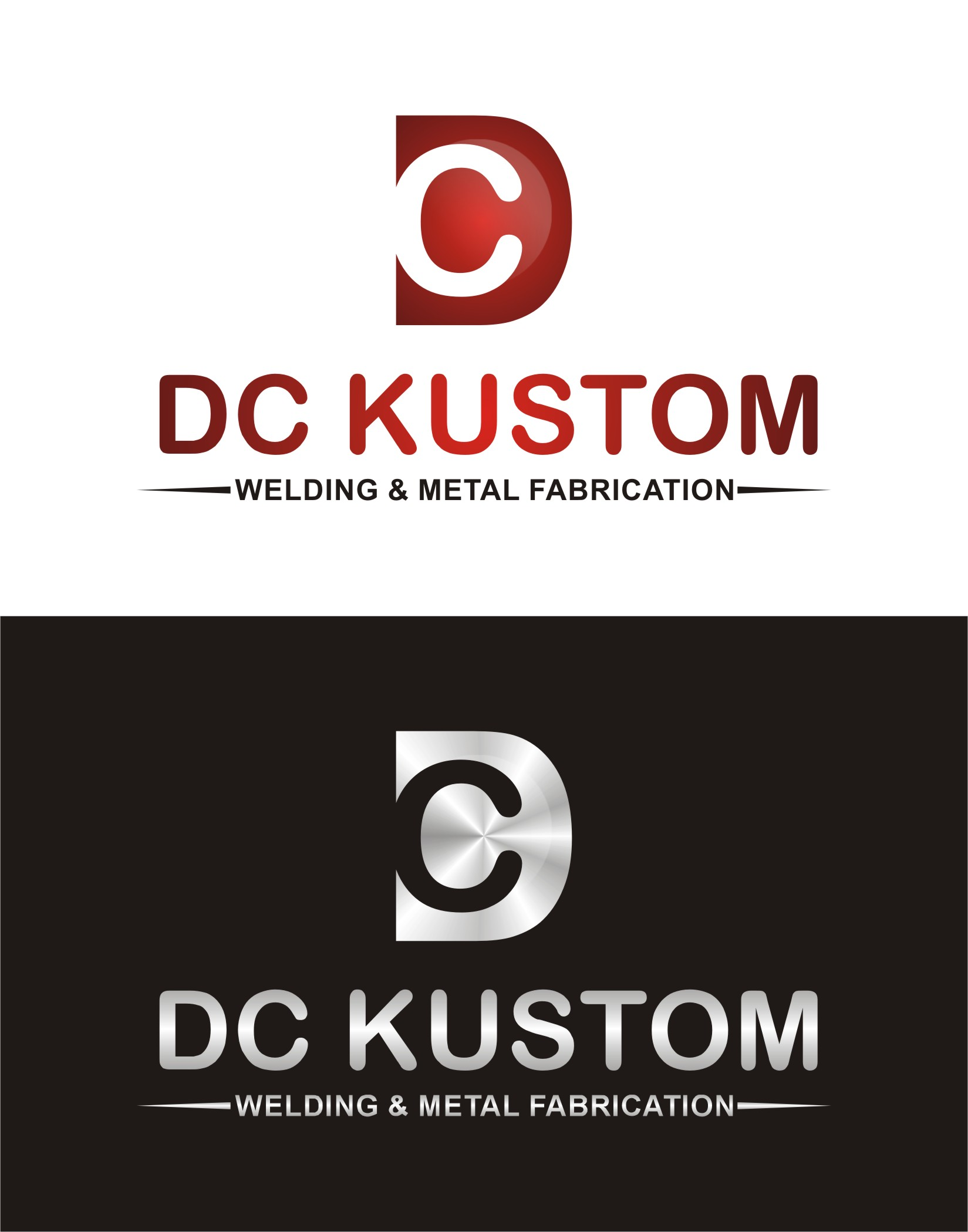 Logo Design by I graphics GRAPHICS - Entry No. 150 in the Logo Design Contest Imaginative Logo Design for DC KUSTOM WELDING & METAL FABRICATION.
