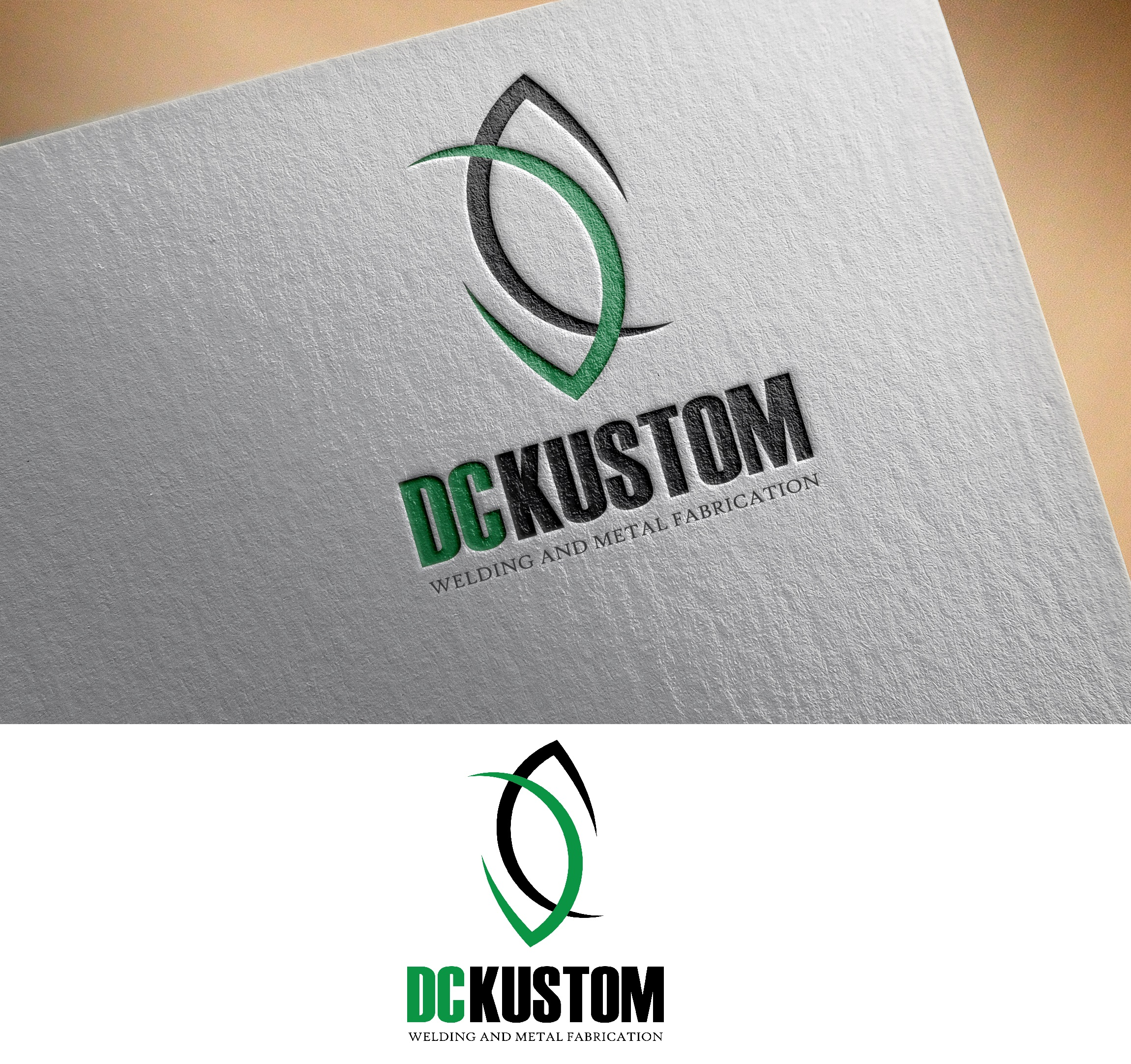 Logo Design by Ivan Aguilon - Entry No. 151 in the Logo Design Contest Imaginative Logo Design for DC KUSTOM WELDING & METAL FABRICATION.