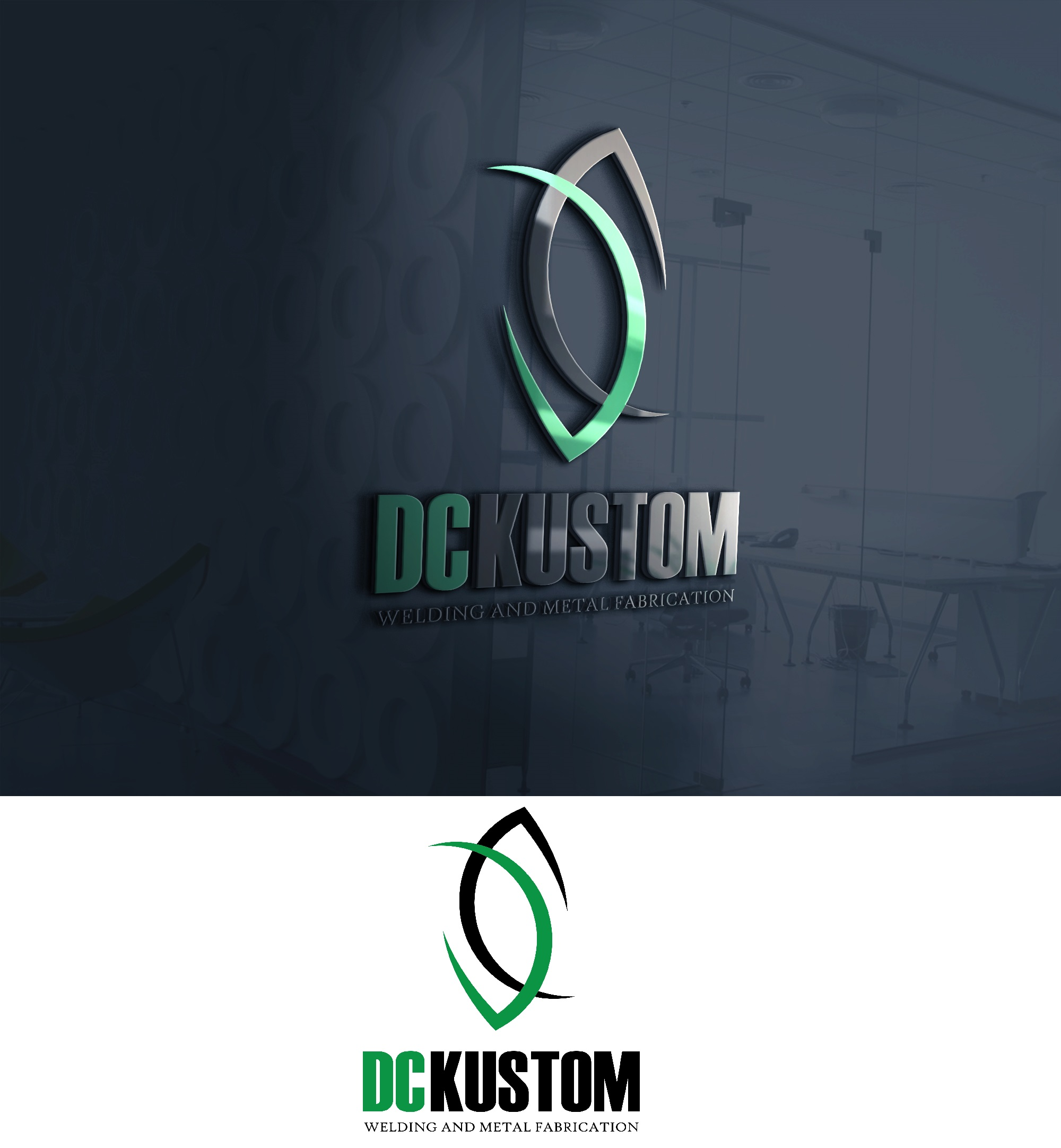 Logo Design by Ivan Aguilon - Entry No. 152 in the Logo Design Contest Imaginative Logo Design for DC KUSTOM WELDING & METAL FABRICATION.
