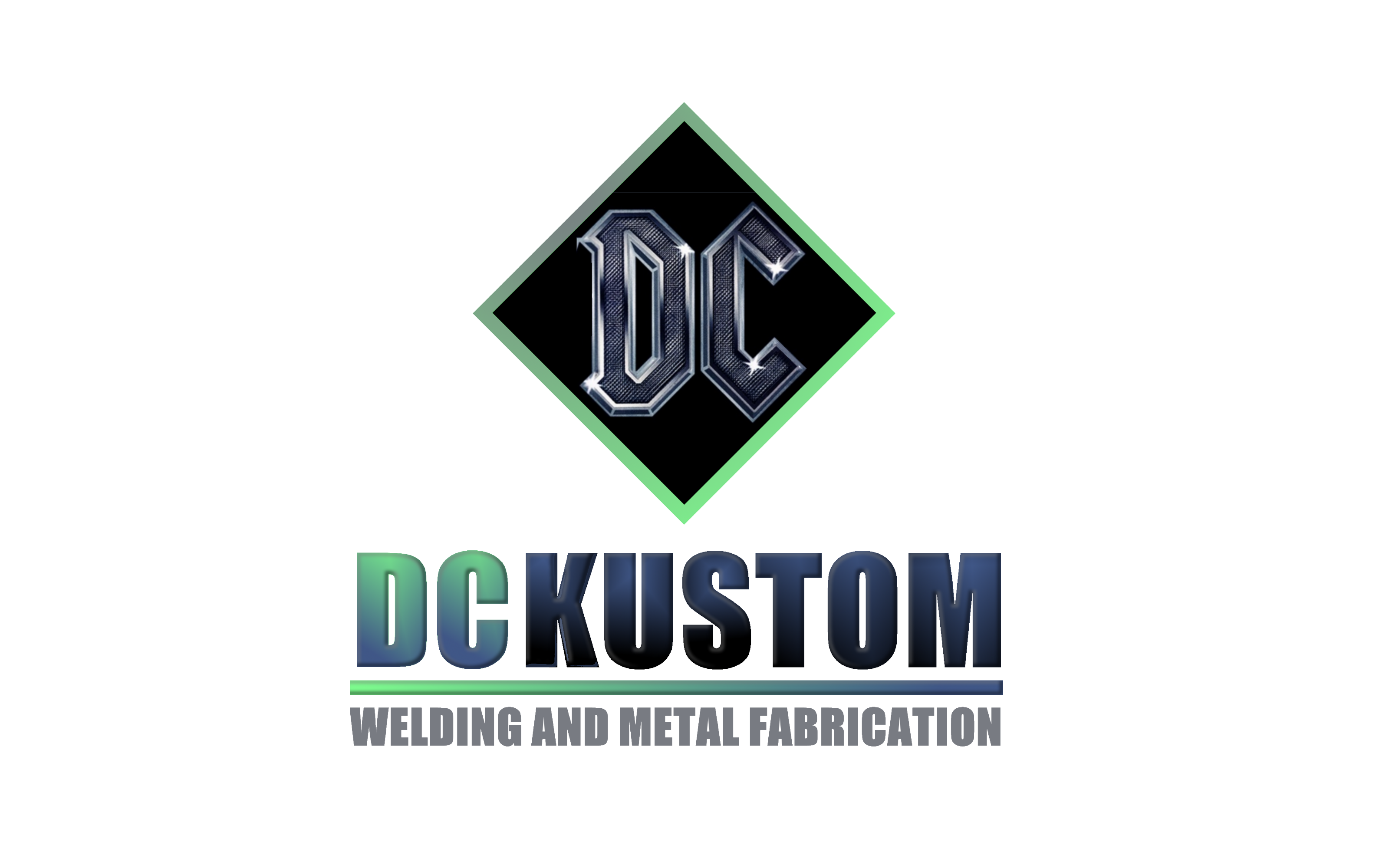 Logo Design by Roberto Bassi - Entry No. 166 in the Logo Design Contest Imaginative Logo Design for DC KUSTOM WELDING & METAL FABRICATION.