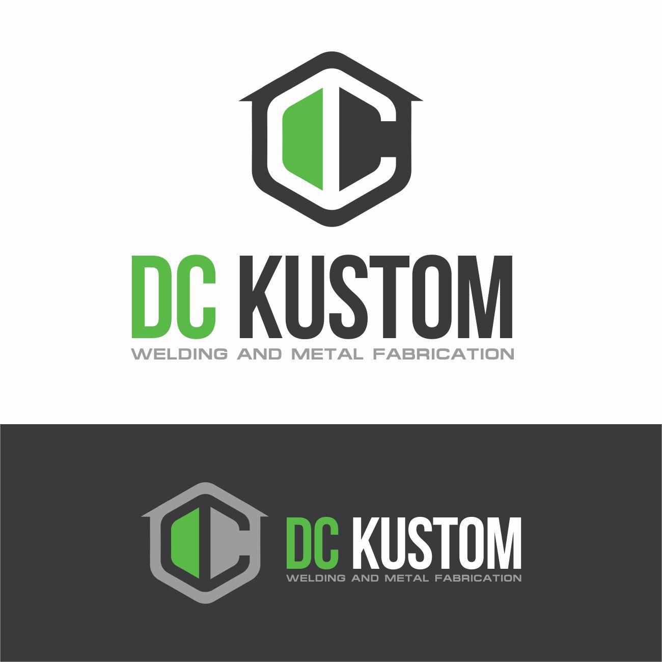 Logo Design by RasYa Muhammad Athaya - Entry No. 169 in the Logo Design Contest Imaginative Logo Design for DC KUSTOM WELDING & METAL FABRICATION.