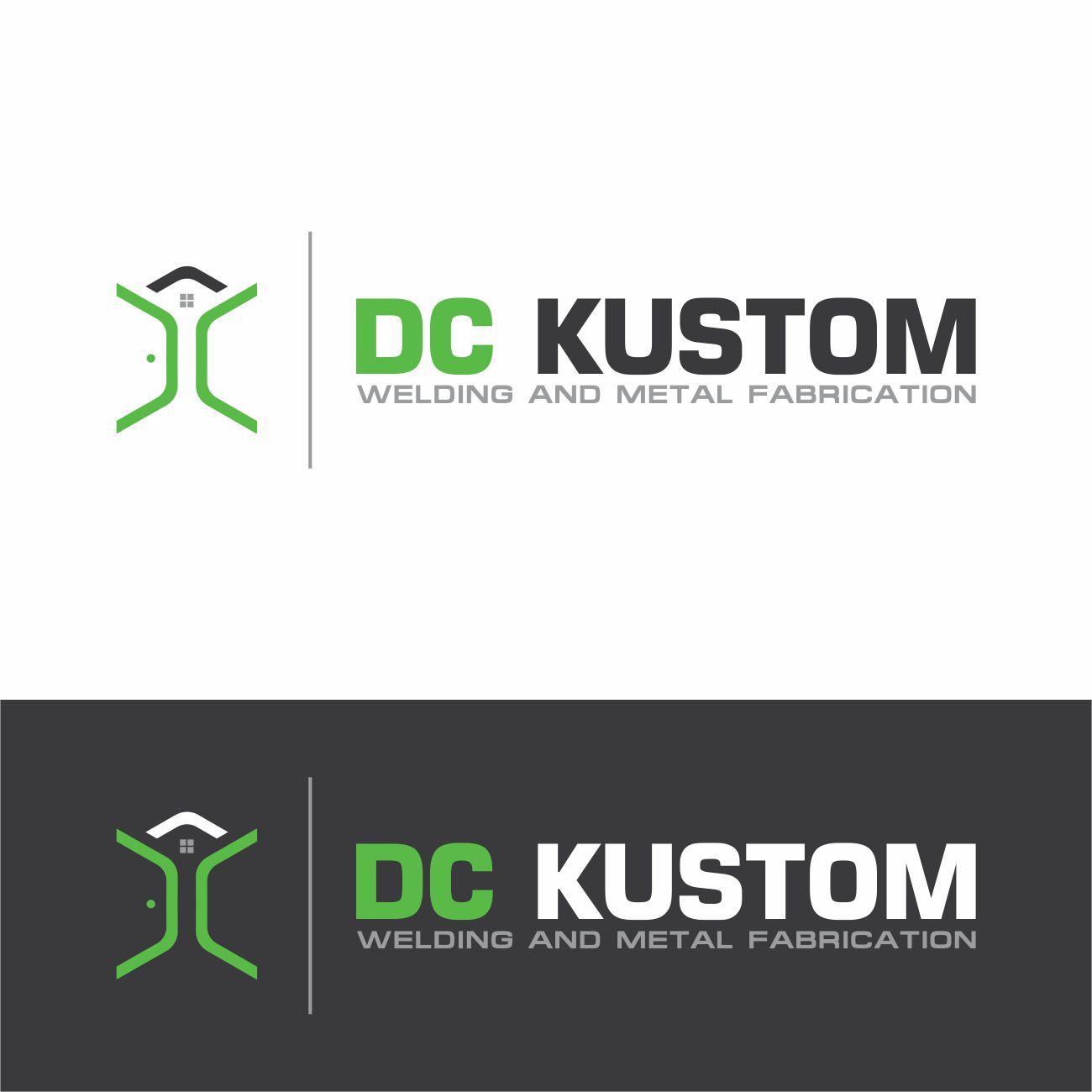 Logo Design by RasYa Muhammad Athaya - Entry No. 174 in the Logo Design Contest Imaginative Logo Design for DC KUSTOM WELDING & METAL FABRICATION.