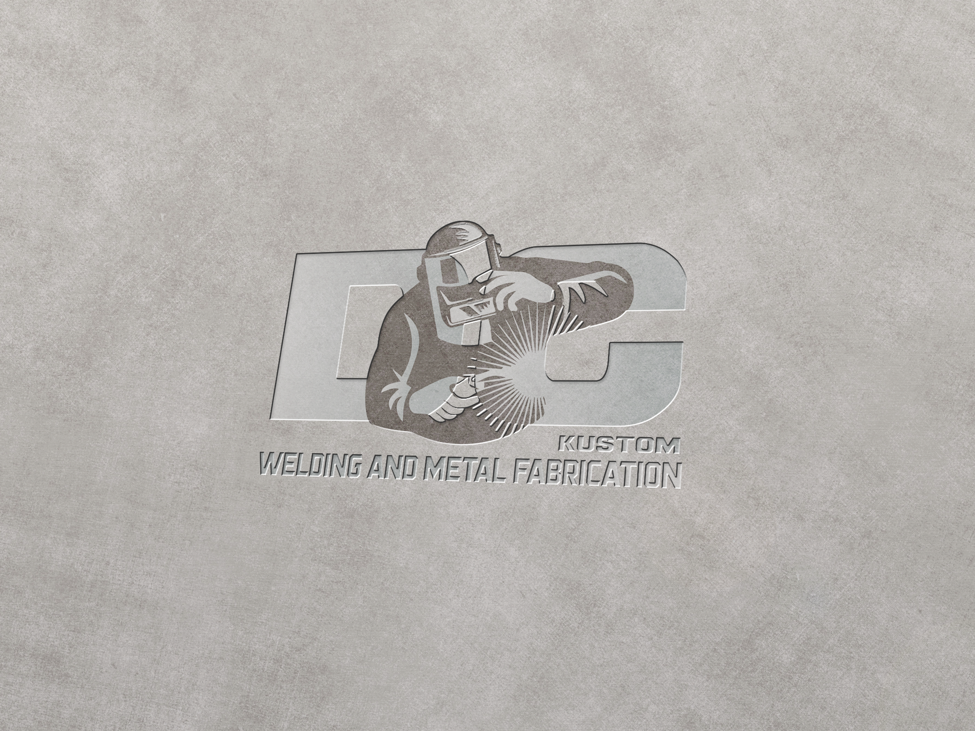 Logo Design by pojas12 - Entry No. 187 in the Logo Design Contest Imaginative Logo Design for DC KUSTOM WELDING & METAL FABRICATION.