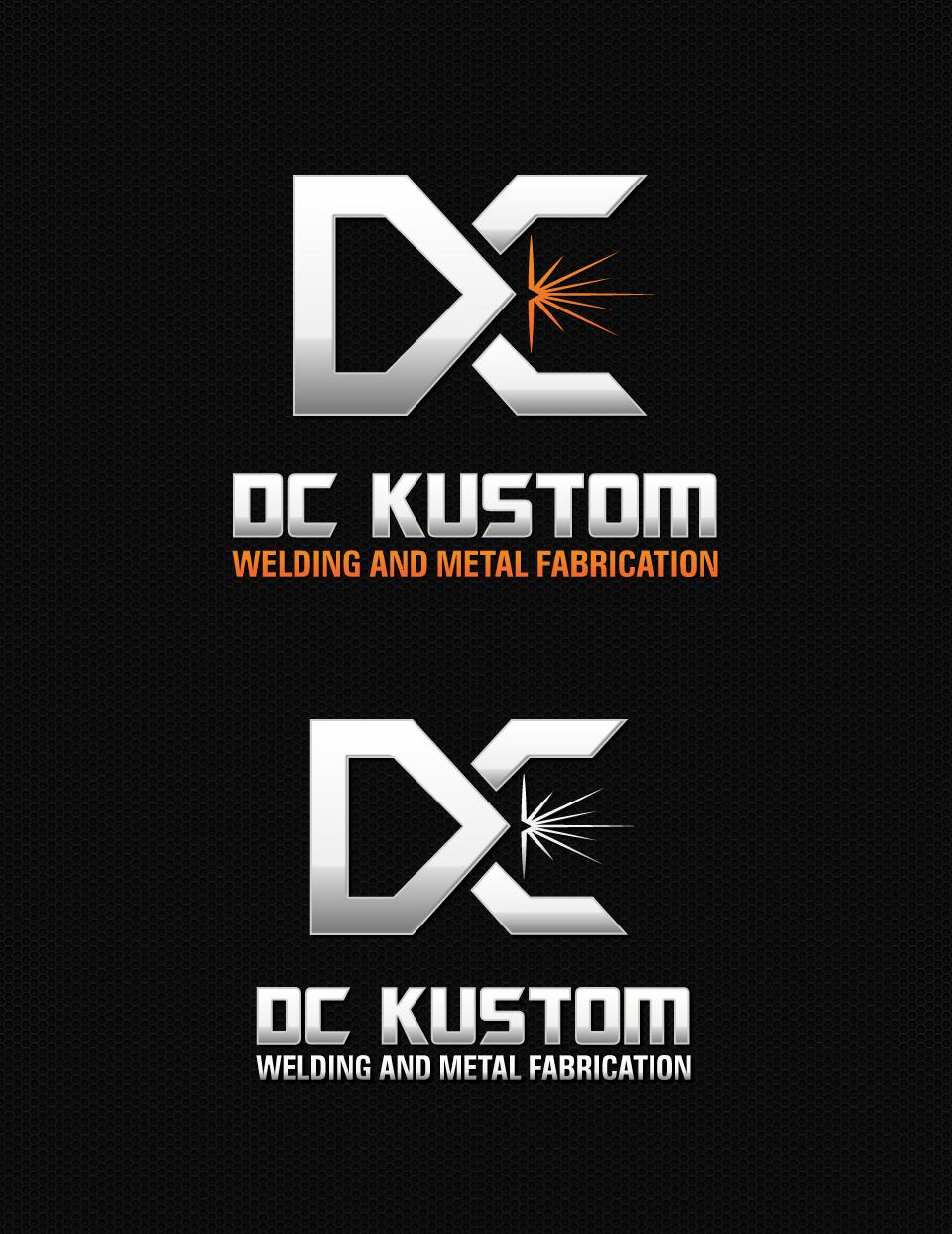 Logo Design by DesignReal - Entry No. 189 in the Logo Design Contest Imaginative Logo Design for DC KUSTOM WELDING & METAL FABRICATION.
