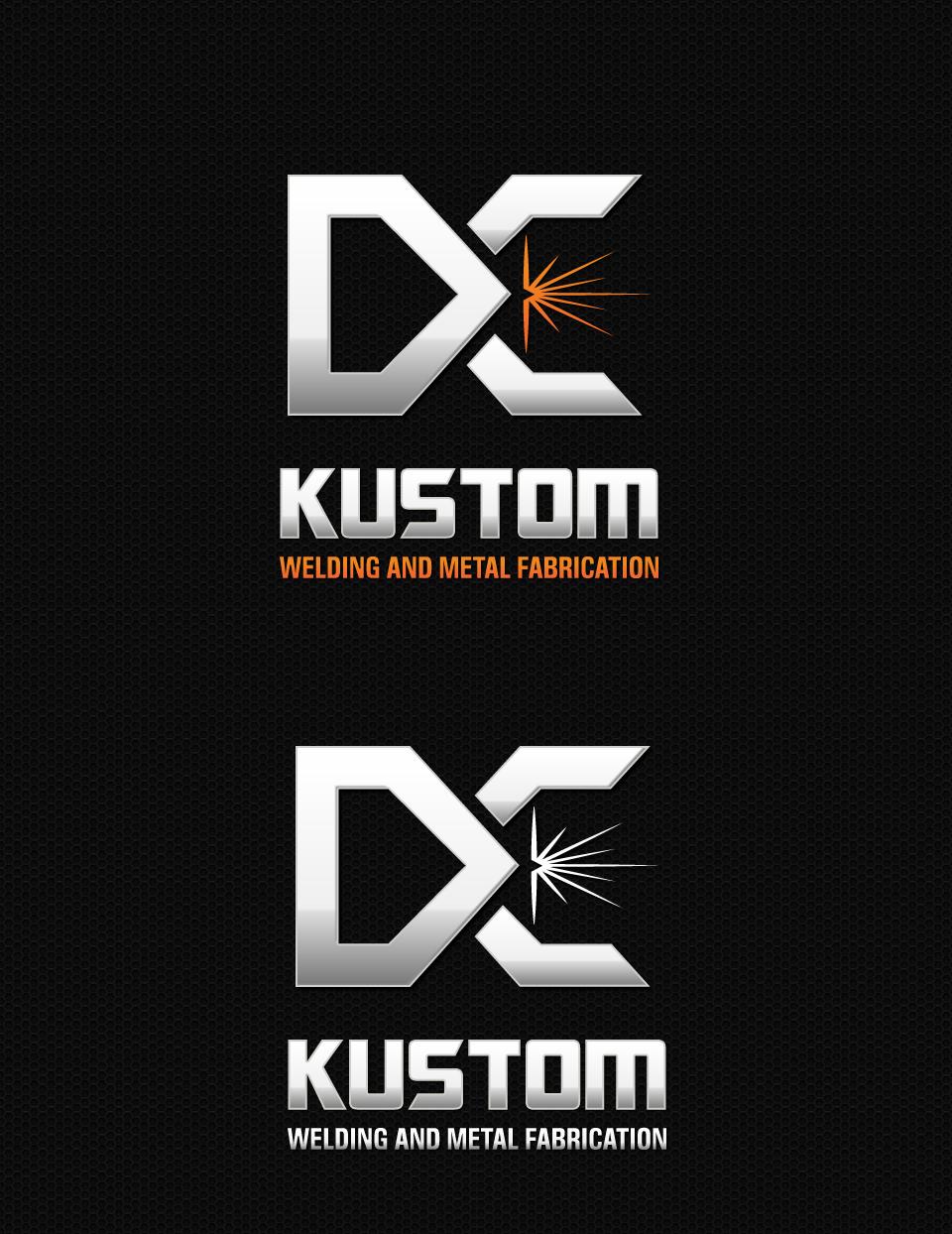 Logo Design by DesignReal - Entry No. 196 in the Logo Design Contest Imaginative Logo Design for DC KUSTOM WELDING & METAL FABRICATION.