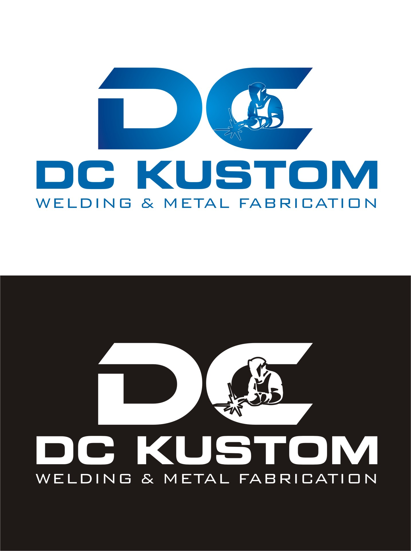 Logo Design by Spider Graphics - Entry No. 198 in the Logo Design Contest Imaginative Logo Design for DC KUSTOM WELDING & METAL FABRICATION.