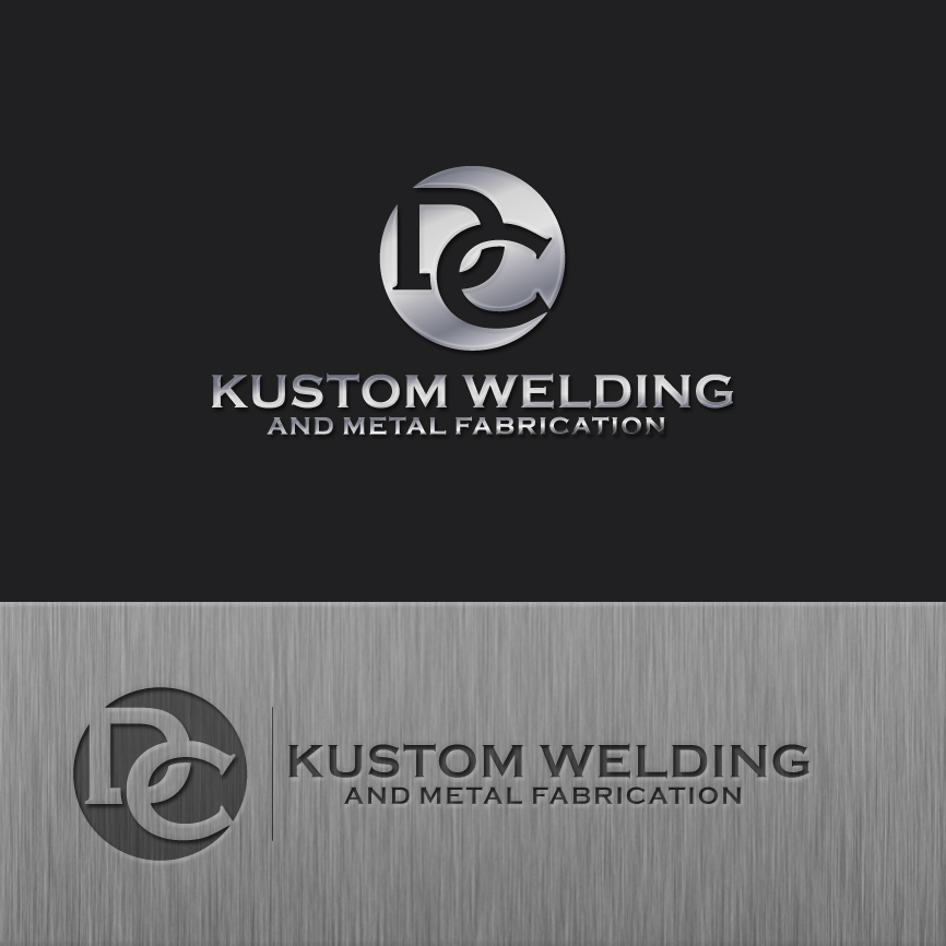Logo Design by RasYa Muhammad Athaya - Entry No. 200 in the Logo Design Contest Imaginative Logo Design for DC KUSTOM WELDING & METAL FABRICATION.