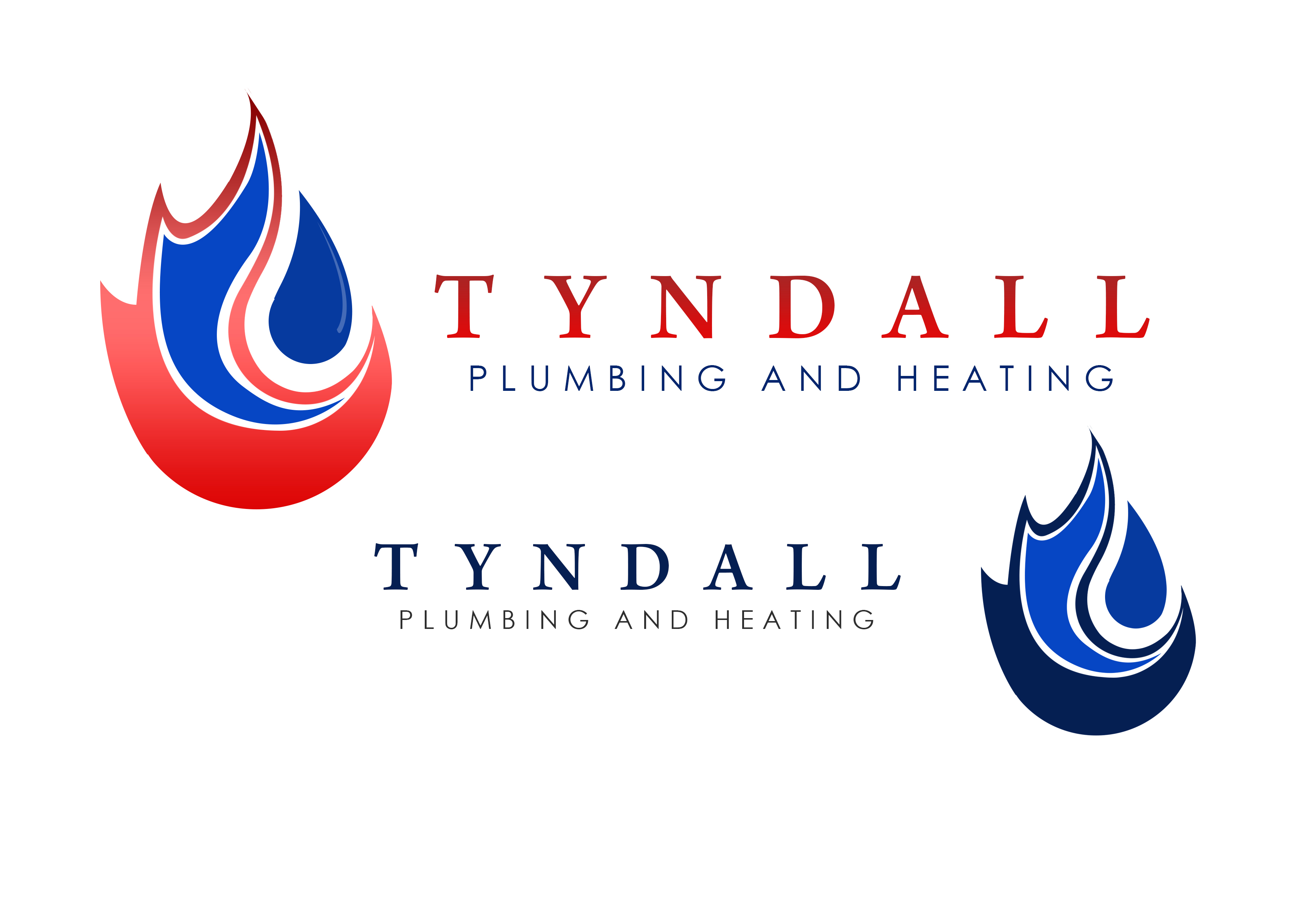 Logo Design by Jesther Jordan Minor - Entry No. 29 in the Logo Design Contest Imaginative Logo Design for Tyndall Plumbing & Heating.