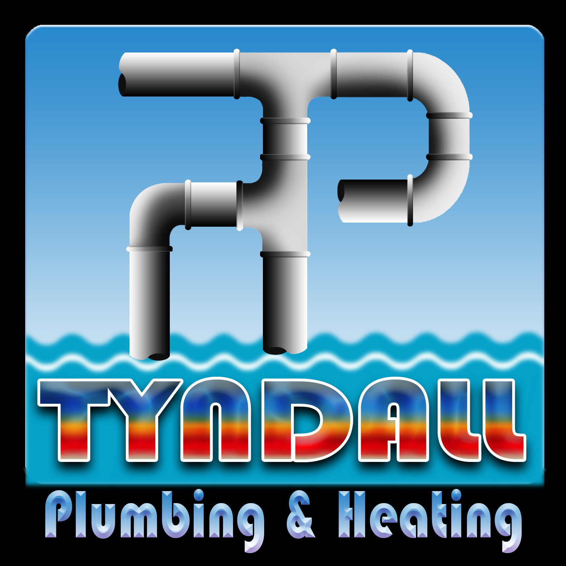 Logo Design by Kitz Malinao - Entry No. 32 in the Logo Design Contest Imaginative Logo Design for Tyndall Plumbing & Heating.