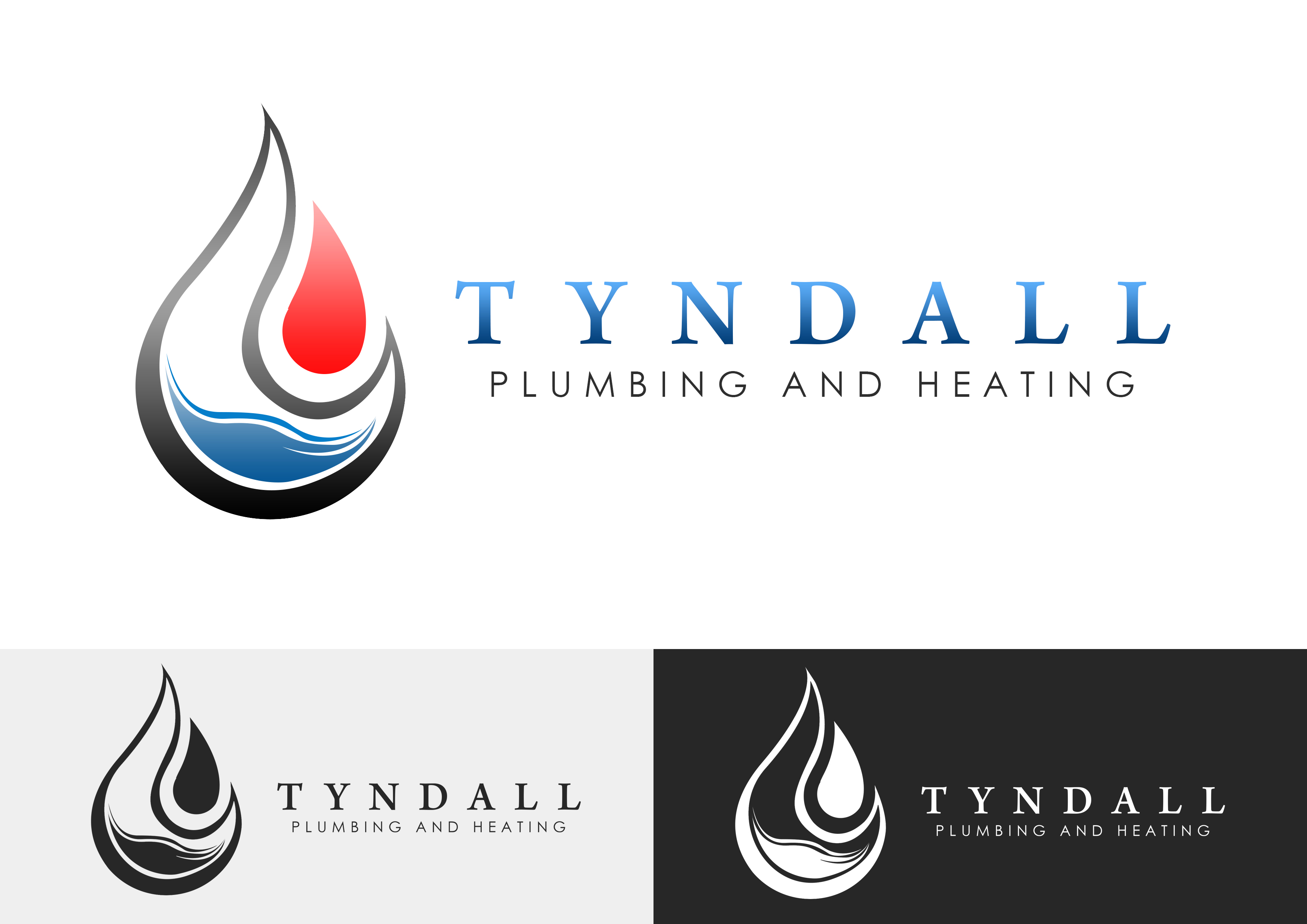 Logo Design by Jesther Jordan Minor - Entry No. 33 in the Logo Design Contest Imaginative Logo Design for Tyndall Plumbing & Heating.