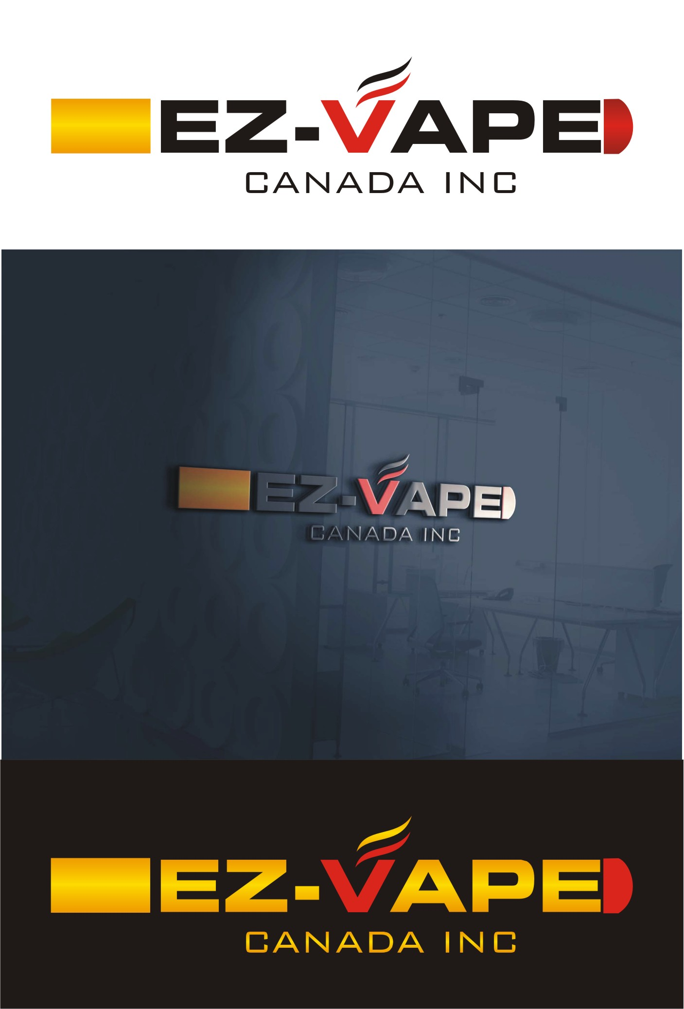 Logo Design by Spider Graphics - Entry No. 24 in the Logo Design Contest Inspiring Logo Design for EZ-Vape Canada Inc.