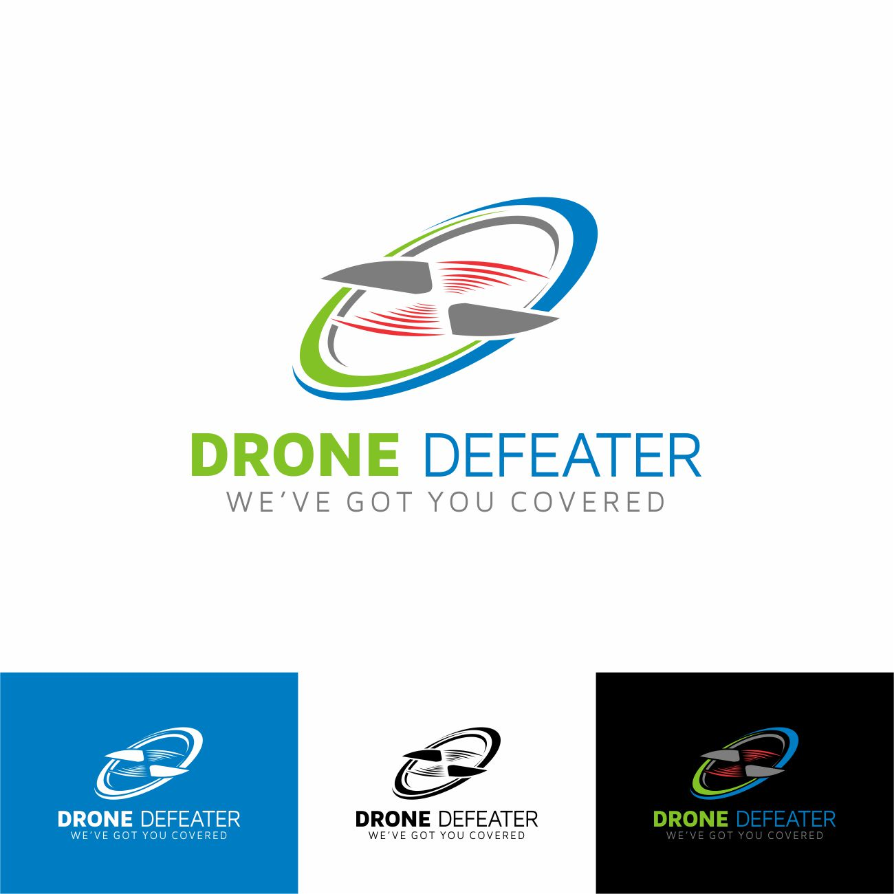 Logo Design by RasYa Muhammad Athaya - Entry No. 84 in the Logo Design Contest Artistic Logo Design for Drone Defeater.