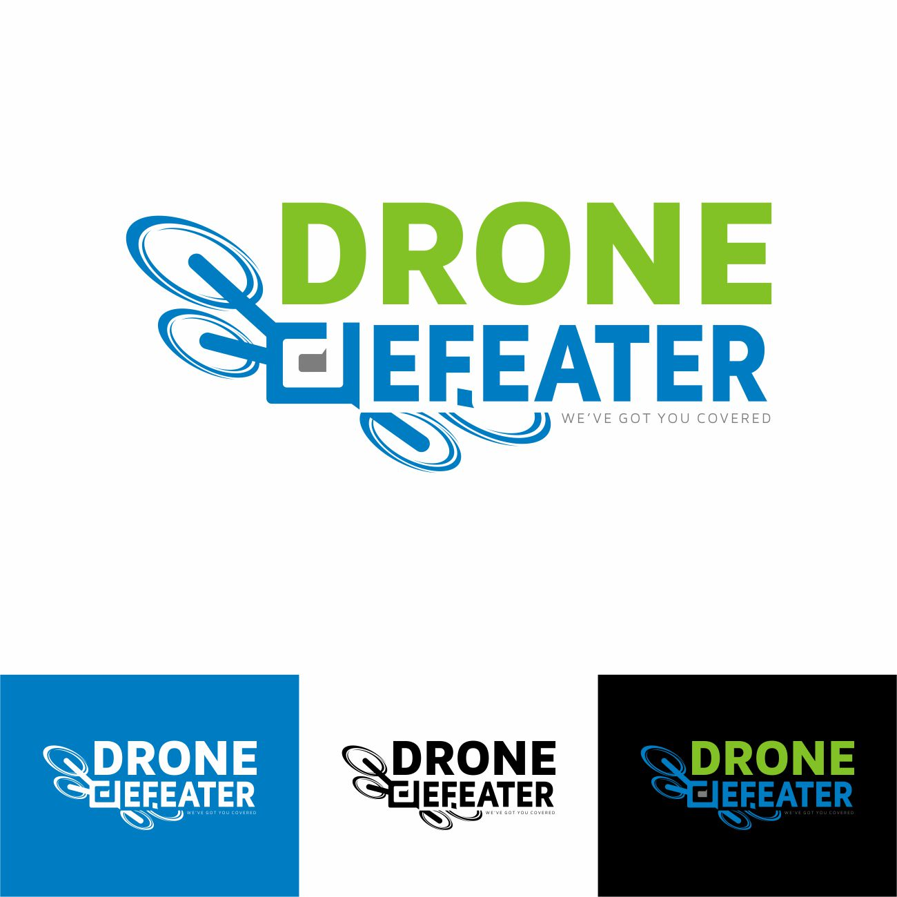 Logo Design by RasYa Muhammad Athaya - Entry No. 85 in the Logo Design Contest Artistic Logo Design for Drone Defeater.