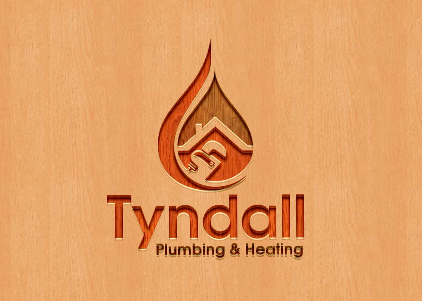 Logo Design by Private User - Entry No. 47 in the Logo Design Contest Imaginative Logo Design for Tyndall Plumbing & Heating.