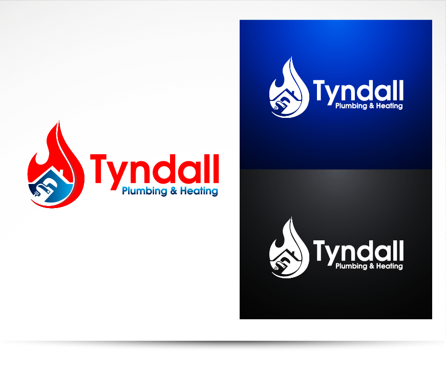 Logo Design by Private User - Entry No. 81 in the Logo Design Contest Imaginative Logo Design for Tyndall Plumbing & Heating.