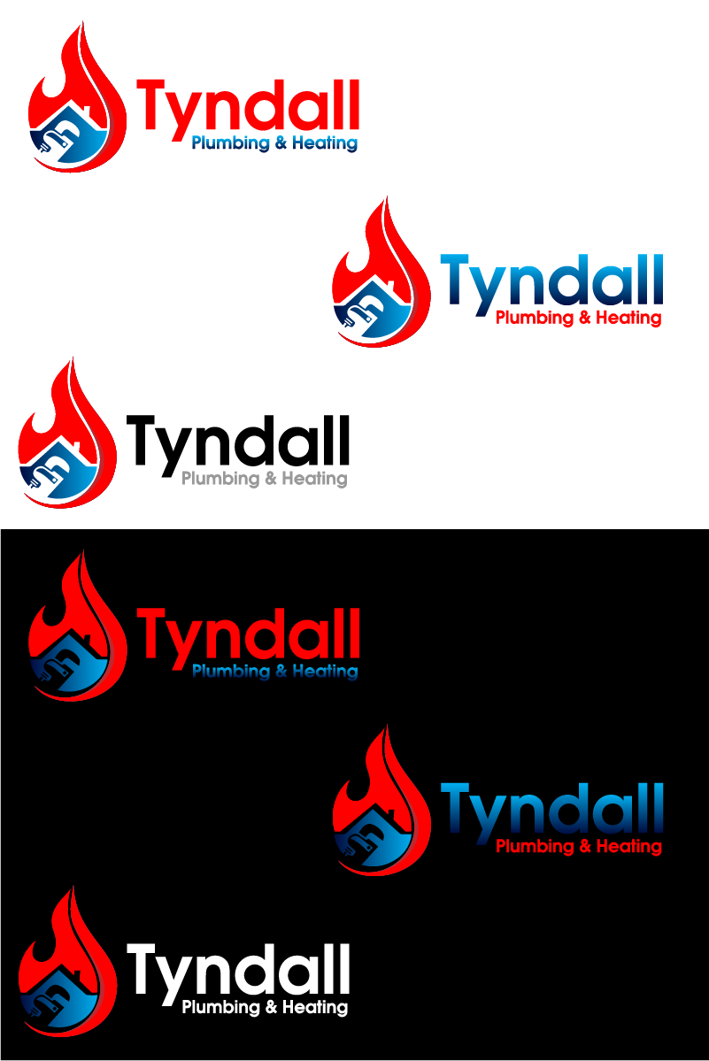 Logo Design by Private User - Entry No. 82 in the Logo Design Contest Imaginative Logo Design for Tyndall Plumbing & Heating.