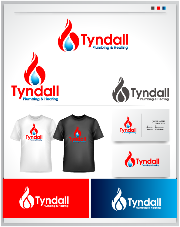 Logo Design by Private User - Entry No. 83 in the Logo Design Contest Imaginative Logo Design for Tyndall Plumbing & Heating.
