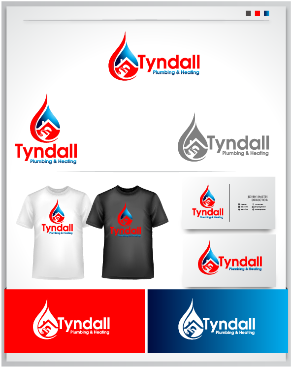 Logo Design by Private User - Entry No. 84 in the Logo Design Contest Imaginative Logo Design for Tyndall Plumbing & Heating.