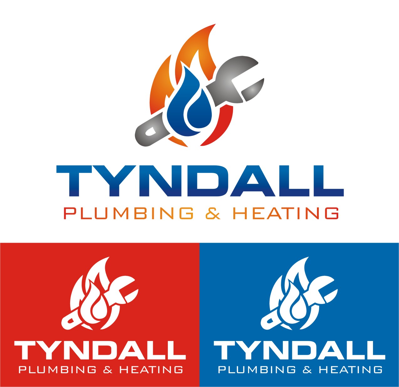 Logo Design by Spider Graphics - Entry No. 85 in the Logo Design Contest Imaginative Logo Design for Tyndall Plumbing & Heating.