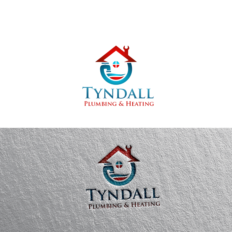 Logo Design by Private User - Entry No. 89 in the Logo Design Contest Imaginative Logo Design for Tyndall Plumbing & Heating.