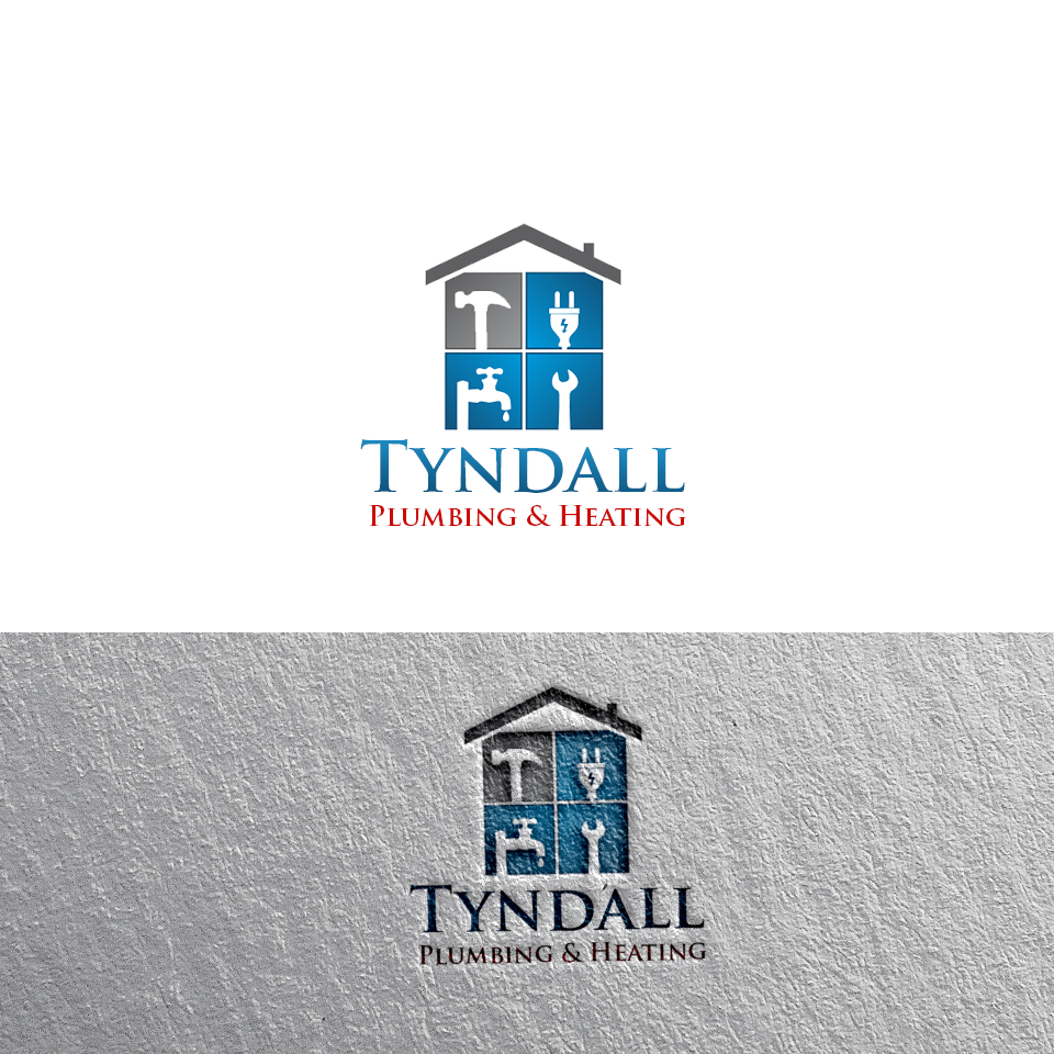Logo Design by Private User - Entry No. 91 in the Logo Design Contest Imaginative Logo Design for Tyndall Plumbing & Heating.