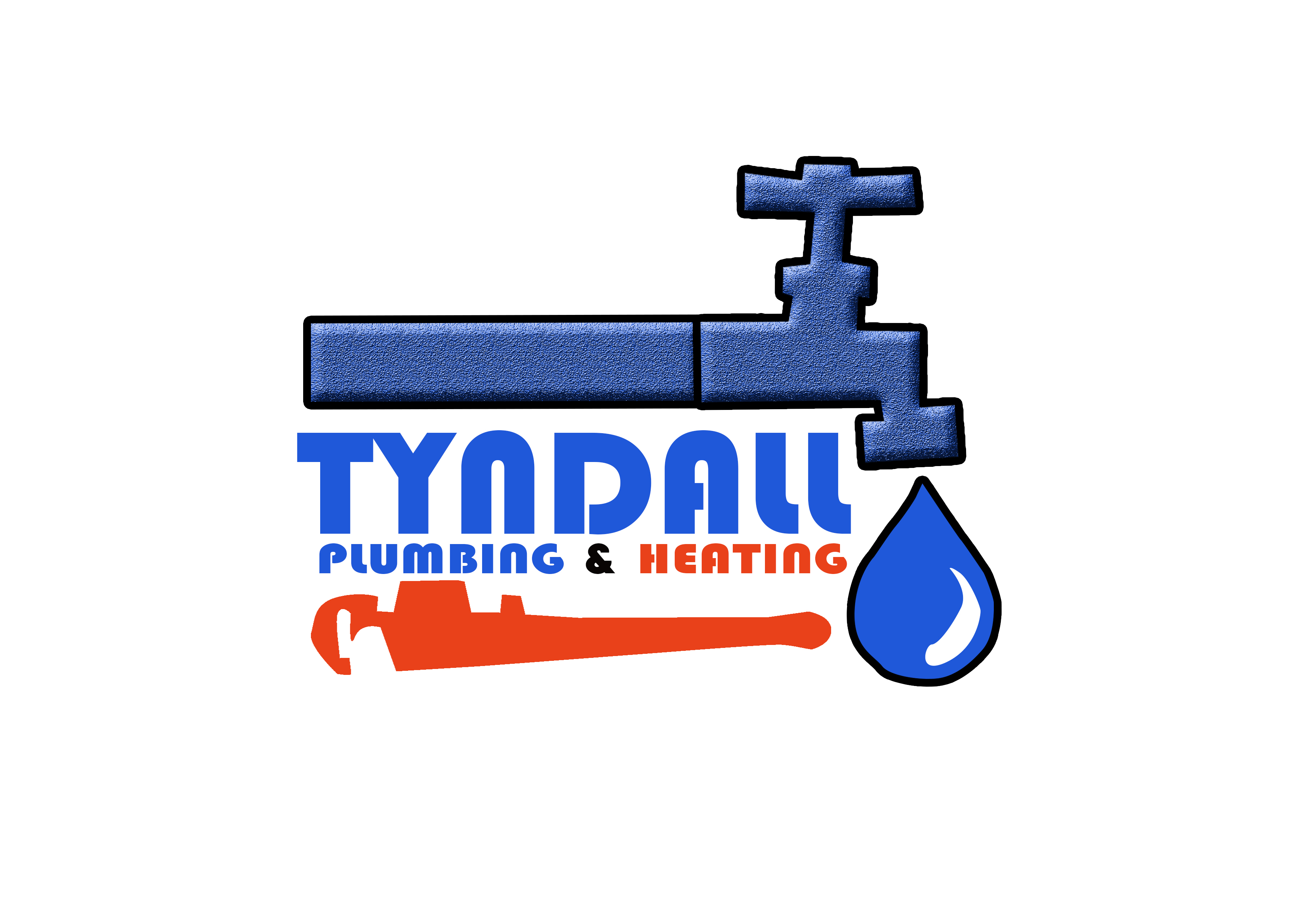 Logo Design by Juneroy Quinimon - Entry No. 95 in the Logo Design Contest Imaginative Logo Design for Tyndall Plumbing & Heating.