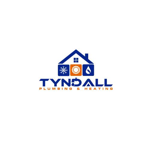 Logo Design by Miraj Bin - Entry No. 120 in the Logo Design Contest Imaginative Logo Design for Tyndall Plumbing & Heating.