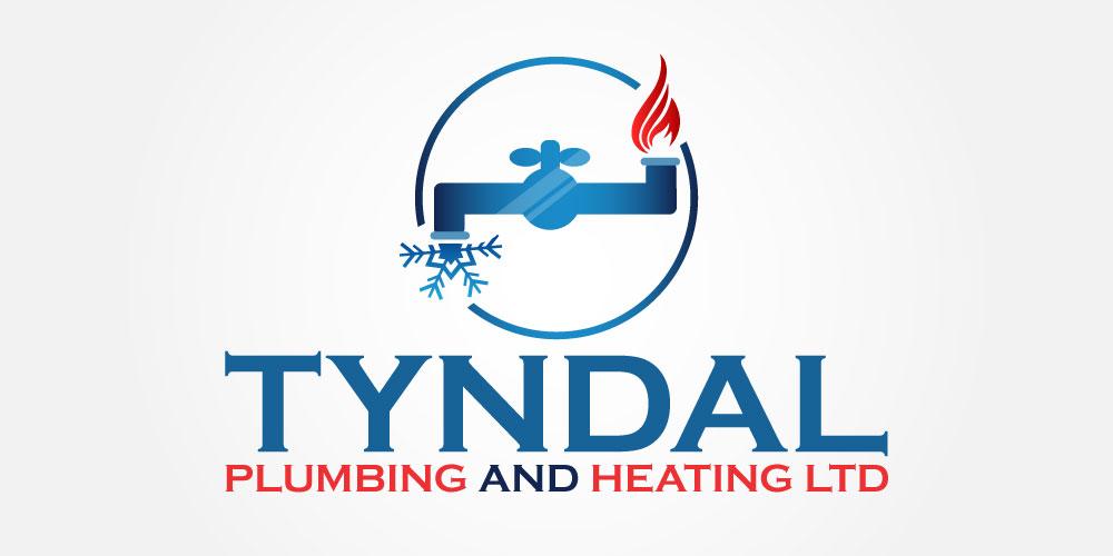 Logo Design by Kamran Khan - Entry No. 124 in the Logo Design Contest Imaginative Logo Design for Tyndall Plumbing & Heating.