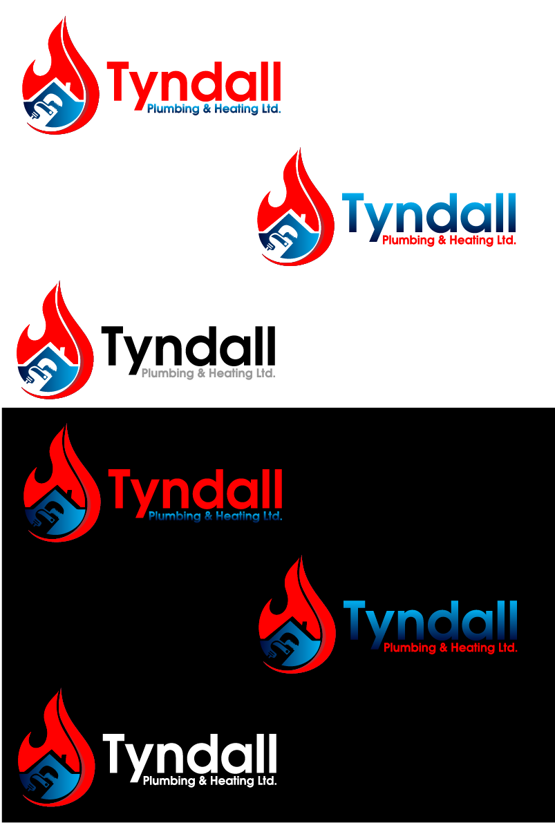 Logo Design by Private User - Entry No. 132 in the Logo Design Contest Imaginative Logo Design for Tyndall Plumbing & Heating.