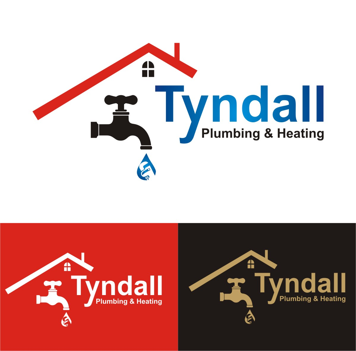 Logo Design by Spider Graphics - Entry No. 148 in the Logo Design Contest Imaginative Logo Design for Tyndall Plumbing & Heating.