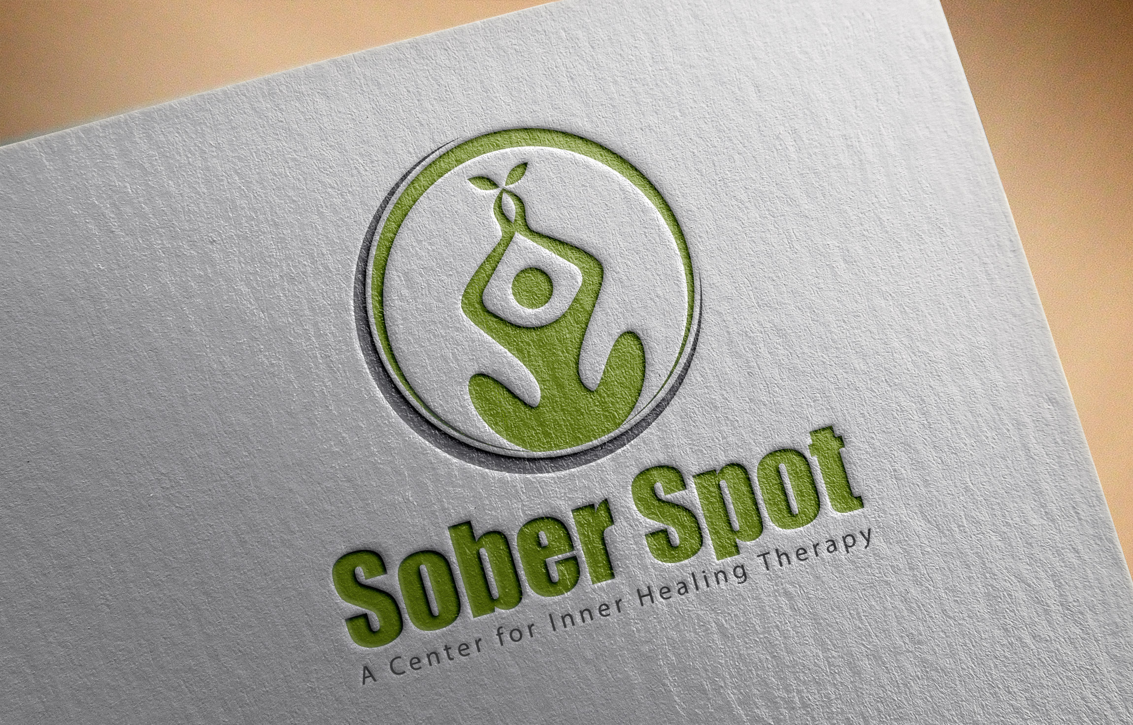 Logo Design by MD SHOHIDUL ISLAM - Entry No. 89 in the Logo Design Contest Unique Logo Design Wanted for Sober Spot A Center for Inner Healing Therapy.