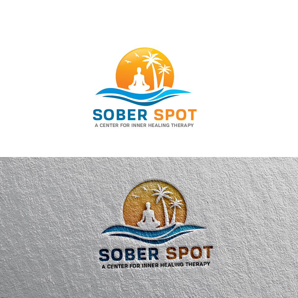 Logo Design by Private User - Entry No. 102 in the Logo Design Contest Unique Logo Design Wanted for Sober Spot A Center for Inner Healing Therapy.