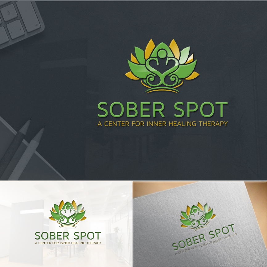 Logo Design by RasYa Muhammad Athaya - Entry No. 106 in the Logo Design Contest Unique Logo Design Wanted for Sober Spot A Center for Inner Healing Therapy.