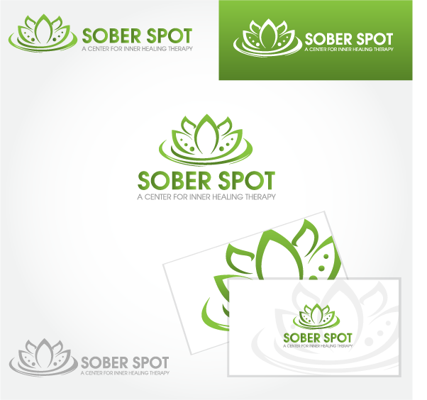Logo Design by Private User - Entry No. 109 in the Logo Design Contest Unique Logo Design Wanted for Sober Spot A Center for Inner Healing Therapy.
