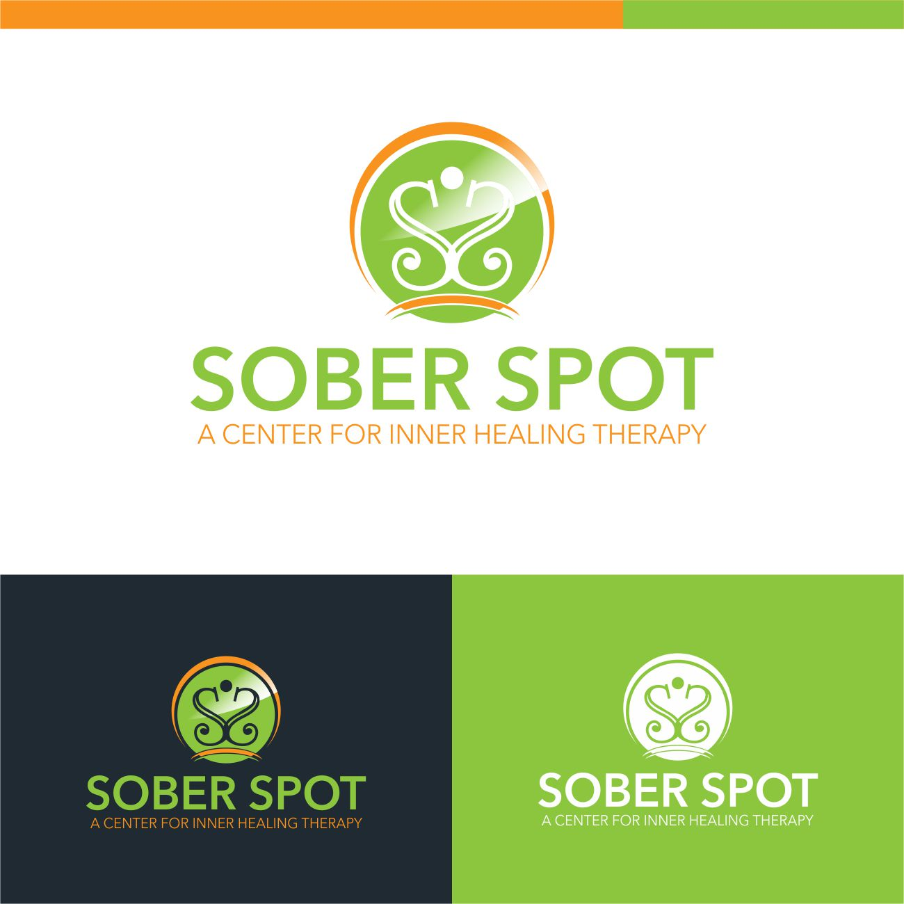 Logo Design by RasYa Muhammad Athaya - Entry No. 110 in the Logo Design Contest Unique Logo Design Wanted for Sober Spot A Center for Inner Healing Therapy.