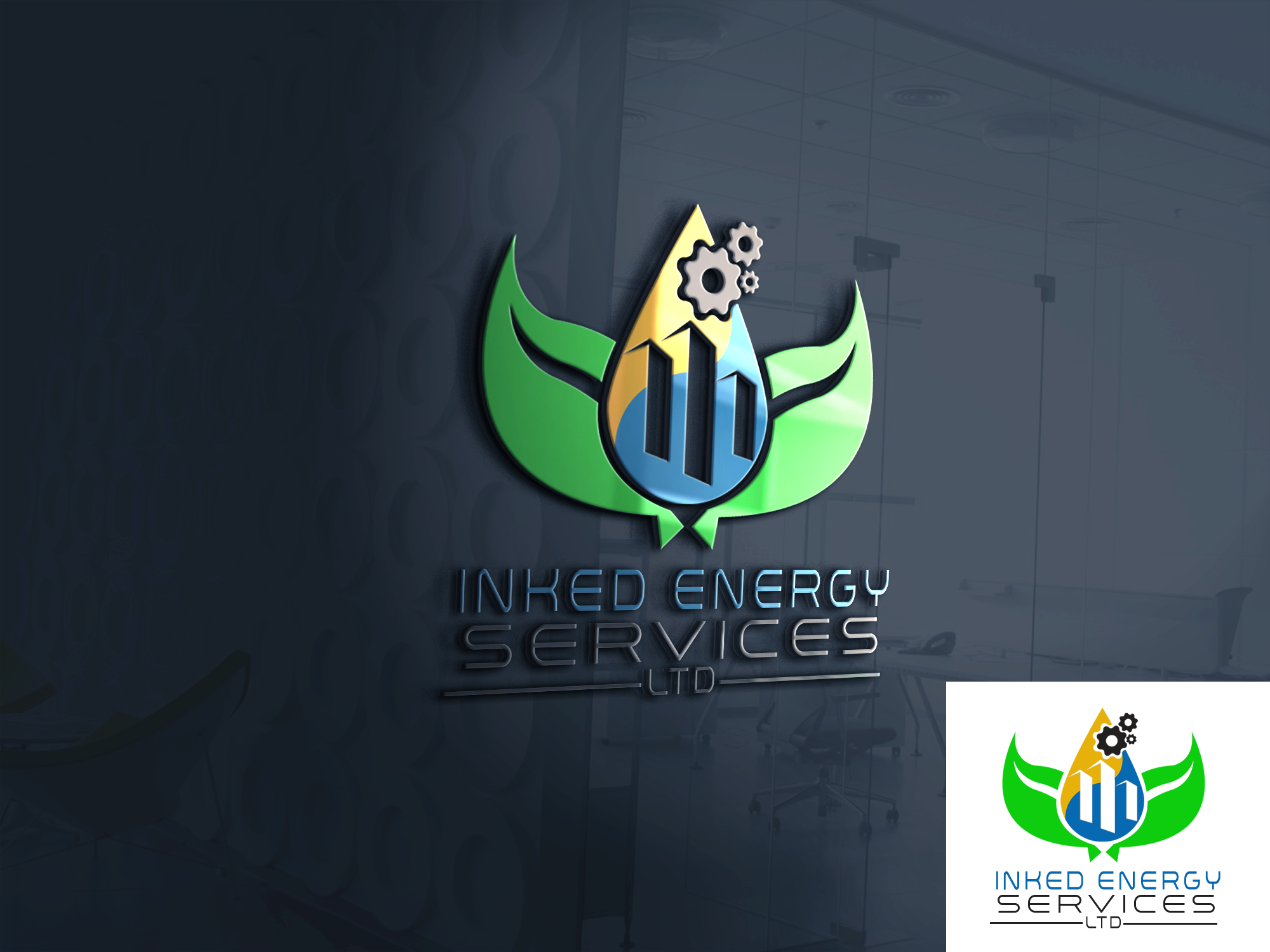 Logo Design by John Melvie Sulla - Entry No. 55 in the Logo Design Contest Creative Logo Design for INKED ENERGY SERVICES LTD.