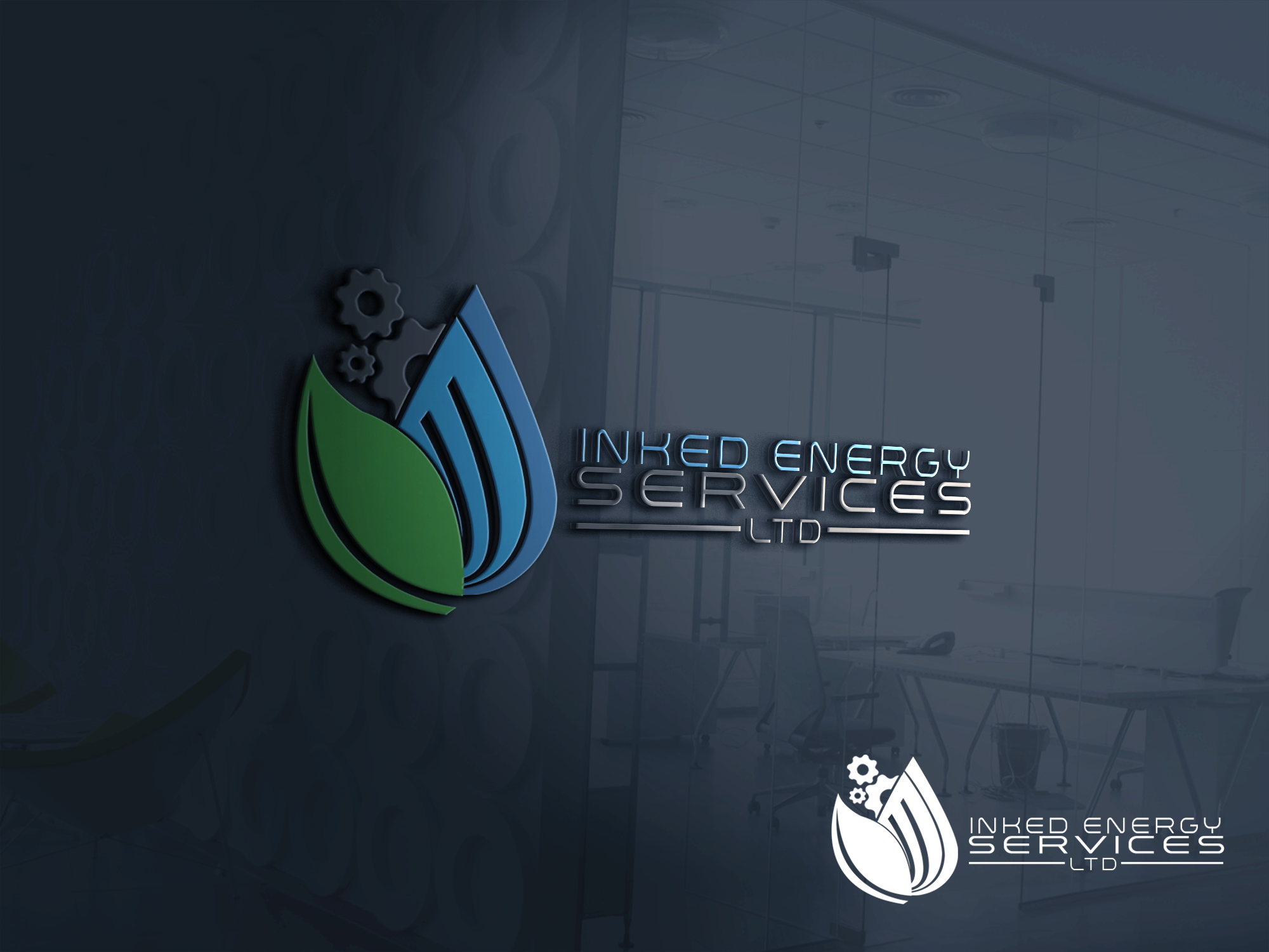 Logo Design by John Melvie Sulla - Entry No. 57 in the Logo Design Contest Creative Logo Design for INKED ENERGY SERVICES LTD.