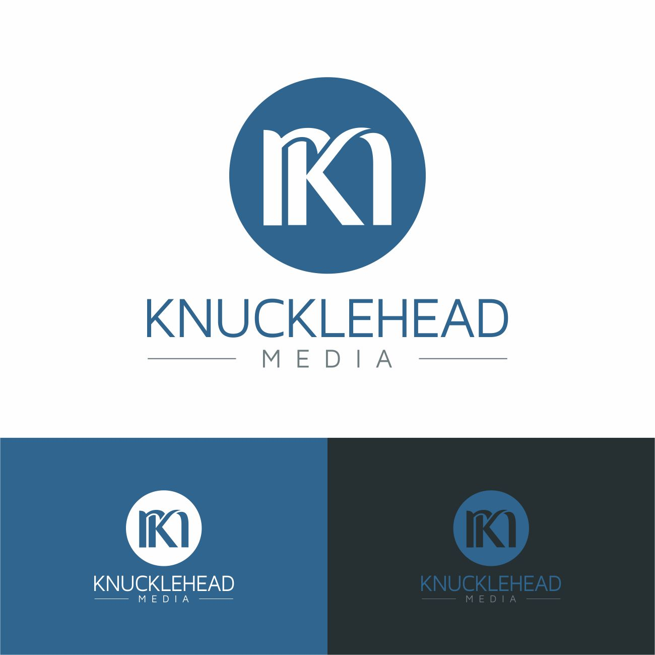 Logo Design by RasYa Muhammad Athaya - Entry No. 33 in the Logo Design Contest Imaginative Logo Design for knucklehead media.