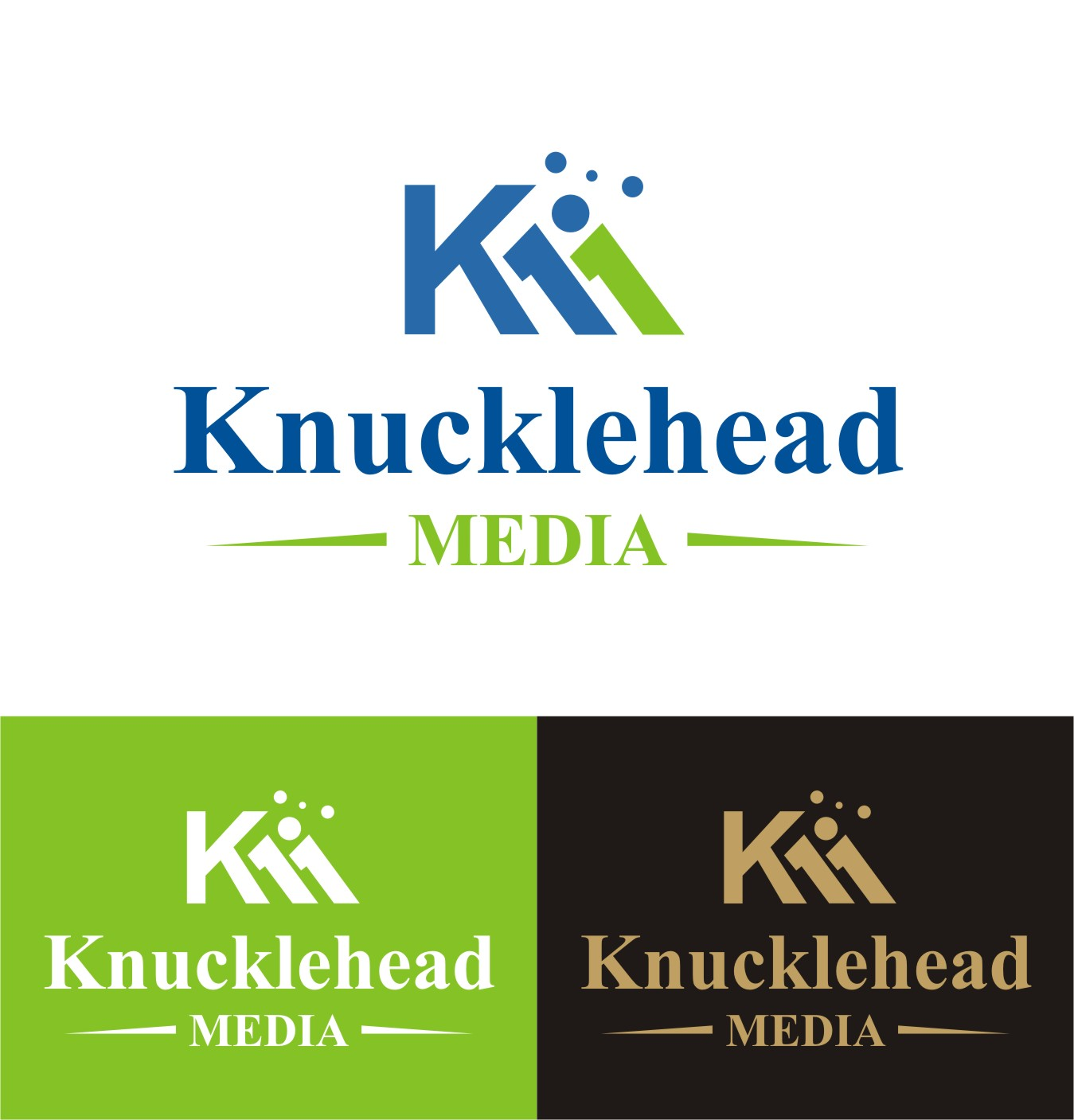 Logo Design by I graphics GRAPHICS - Entry No. 38 in the Logo Design Contest Imaginative Logo Design for knucklehead media.