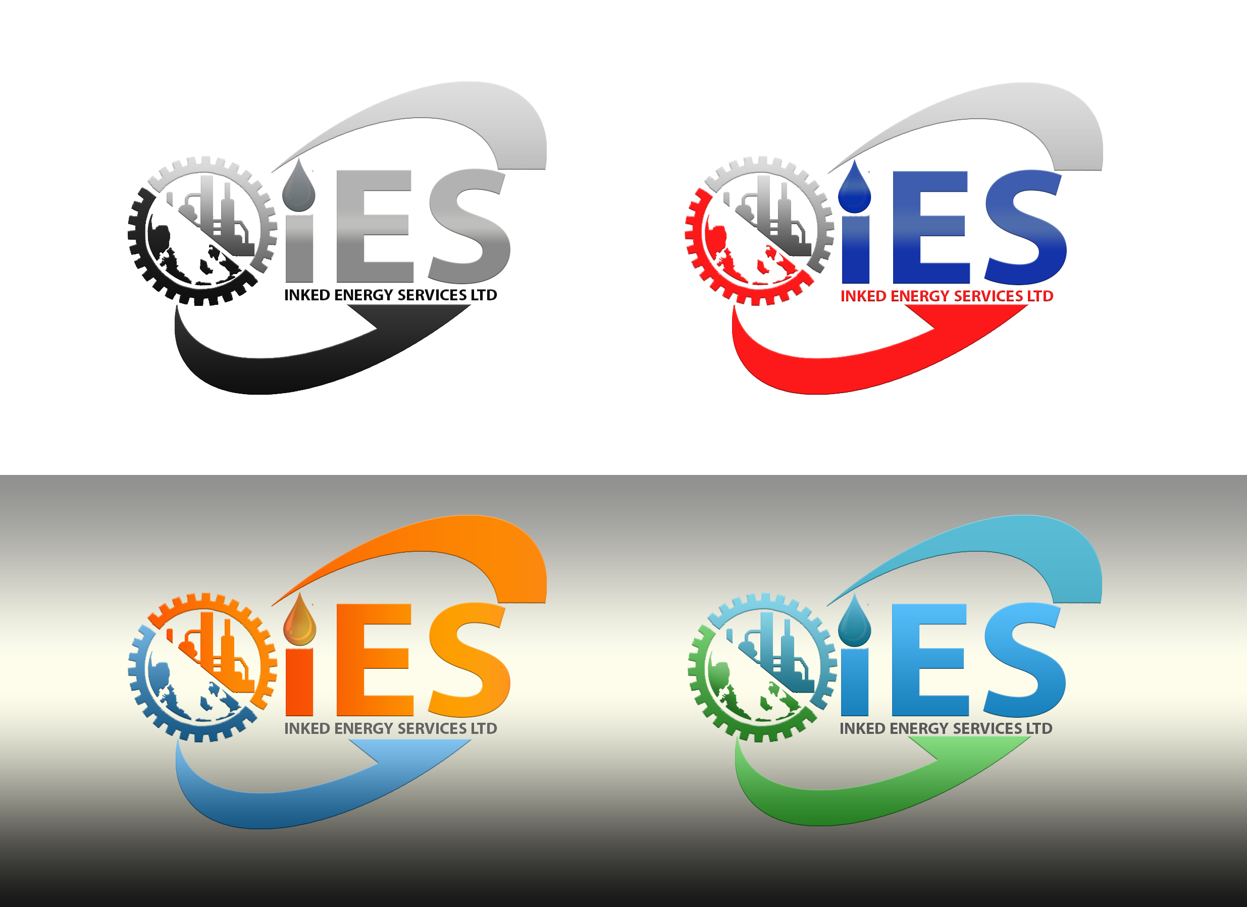 Logo Design by JSDESIGNGROUP - Entry No. 95 in the Logo Design Contest Creative Logo Design for INKED ENERGY SERVICES LTD.