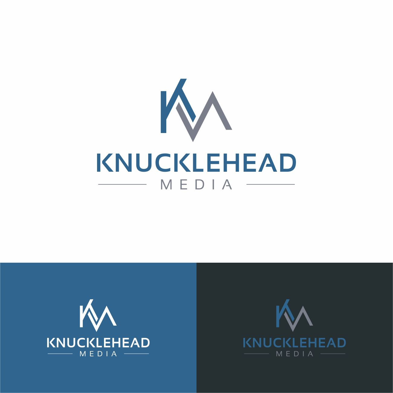 Logo Design by RasYa Muhammad Athaya - Entry No. 67 in the Logo Design Contest Imaginative Logo Design for knucklehead media.