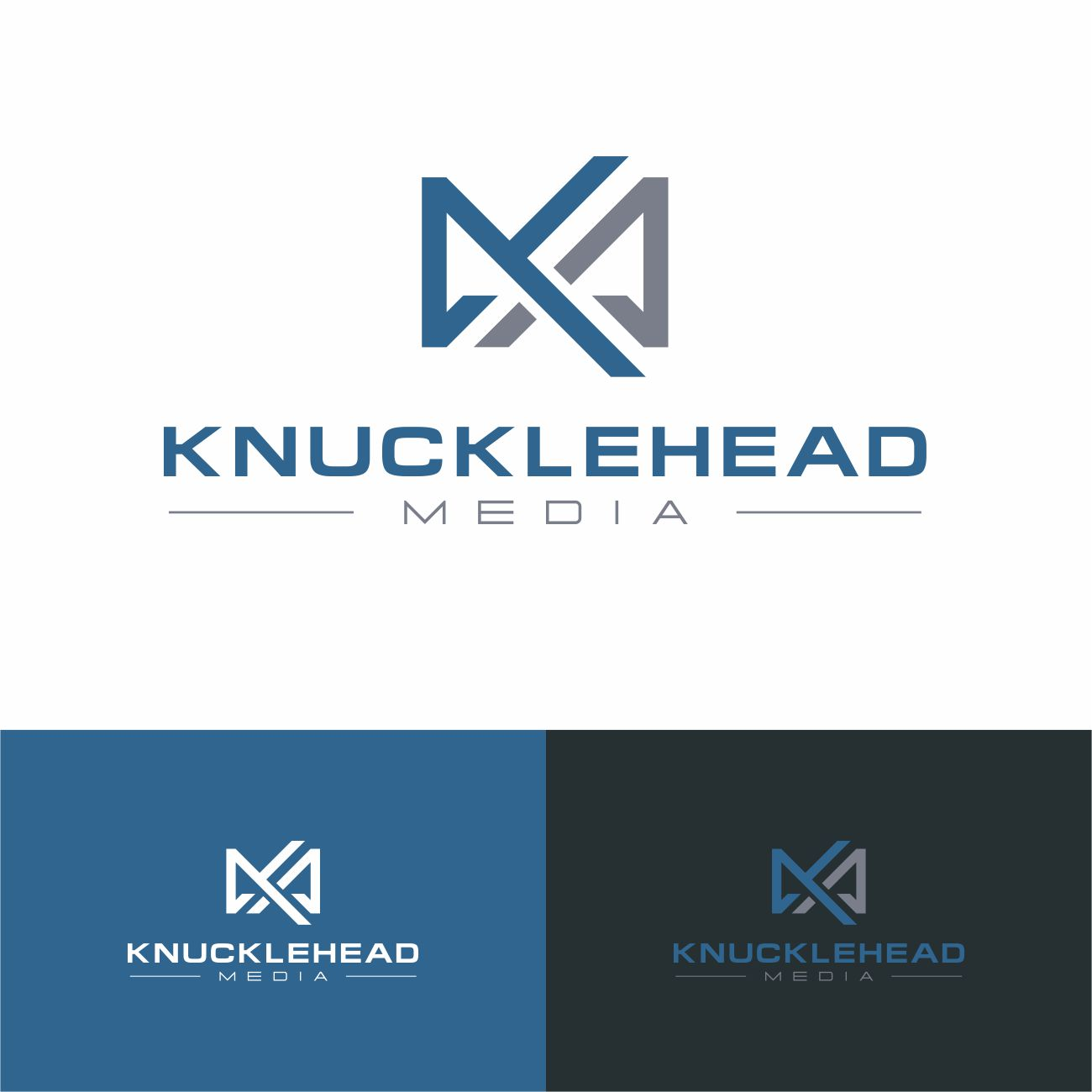 Logo Design by RasYa Muhammad Athaya - Entry No. 68 in the Logo Design Contest Imaginative Logo Design for knucklehead media.