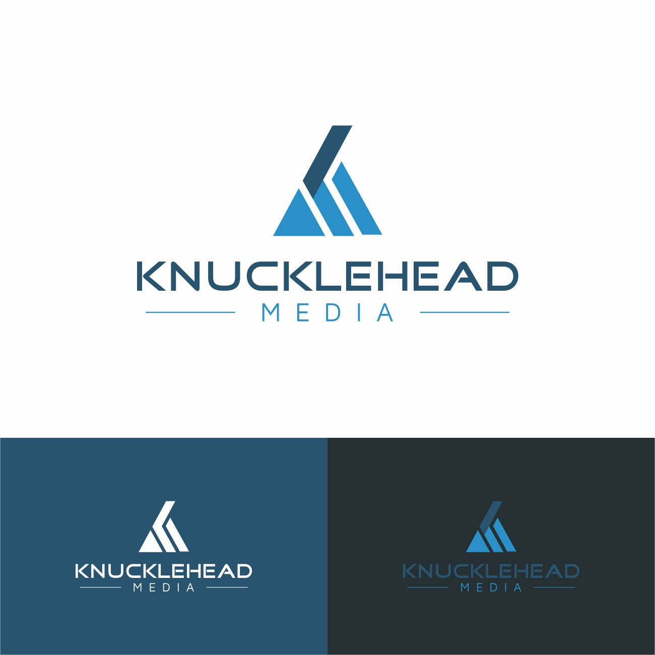 Logo Design by RasYa Muhammad Athaya - Entry No. 94 in the Logo Design Contest Imaginative Logo Design for knucklehead media.